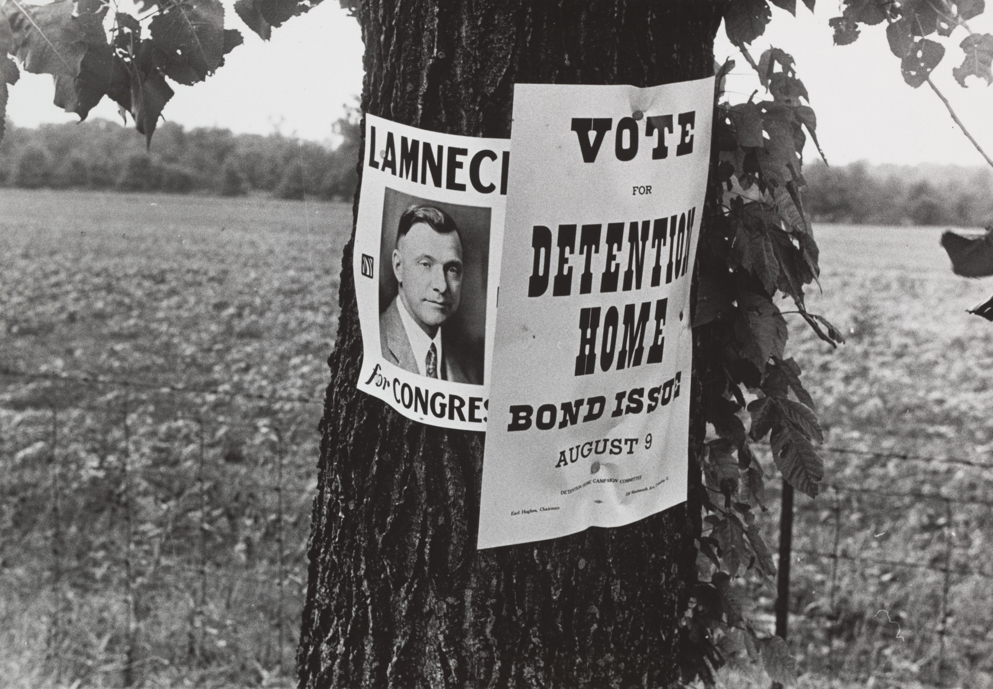 Ben Shahn. Campaign Posters, Central Ohio, Route 40. Summer 1938