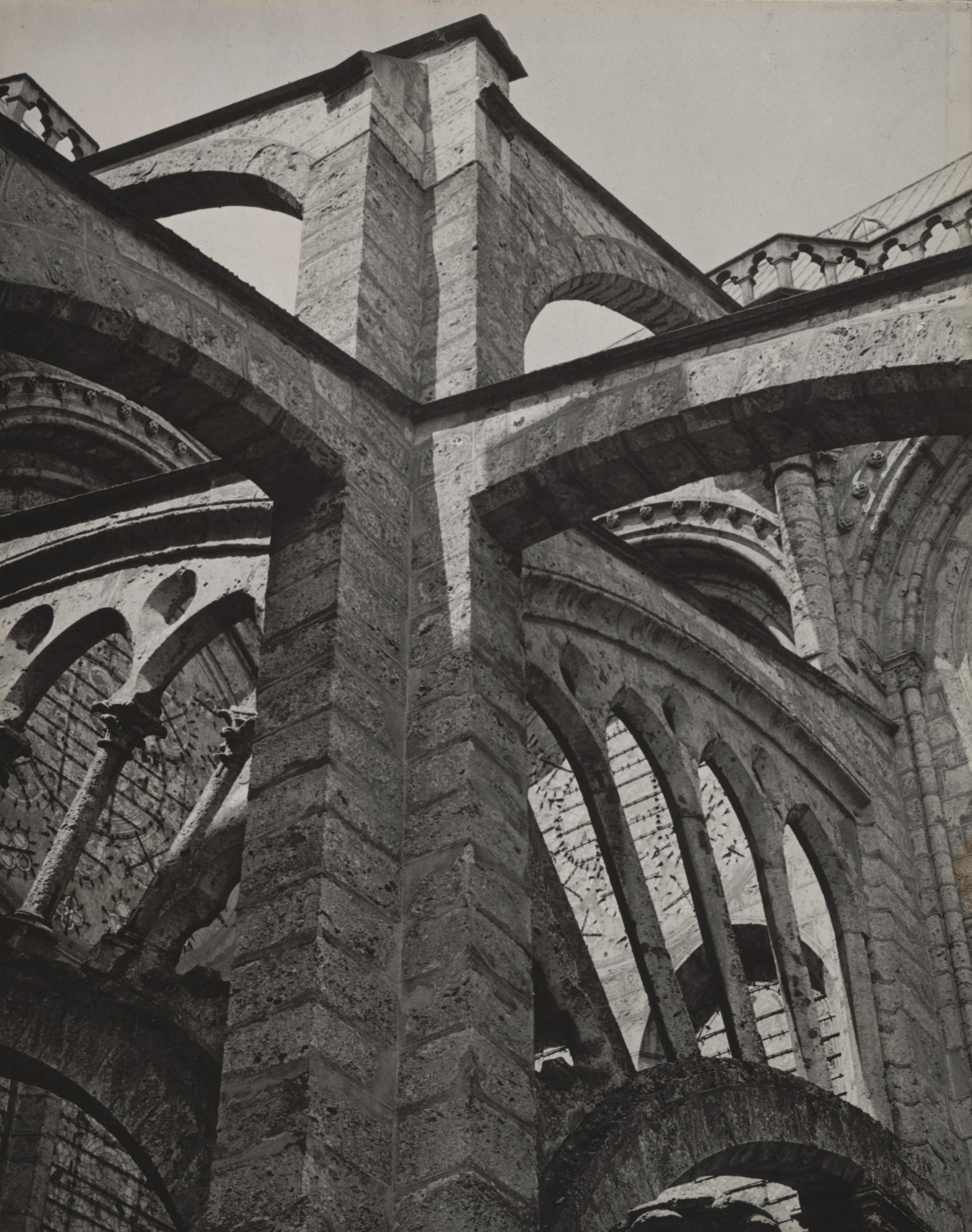 Charles Sheeler. Buttresses, Chartres Cathedral. 1929