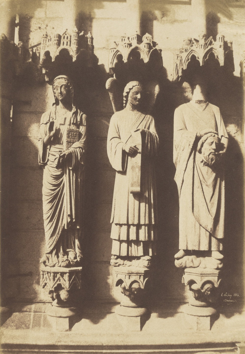 Henri Le Secq. Portal Sculptures, Amiens Cathedral, France. 1852