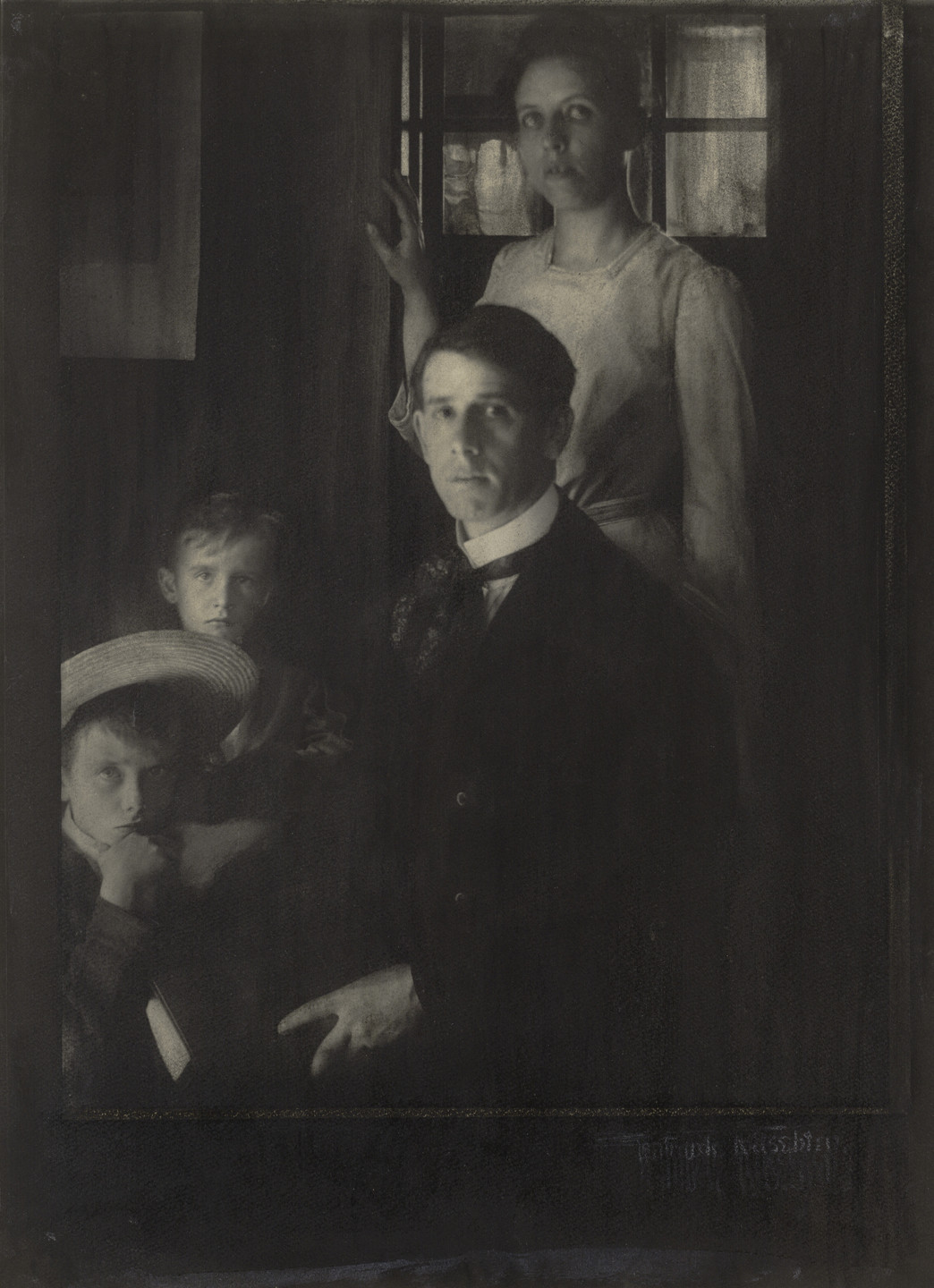 Gertrude Käsebier. Family Portrait (Clarence H. White and Family). 1902