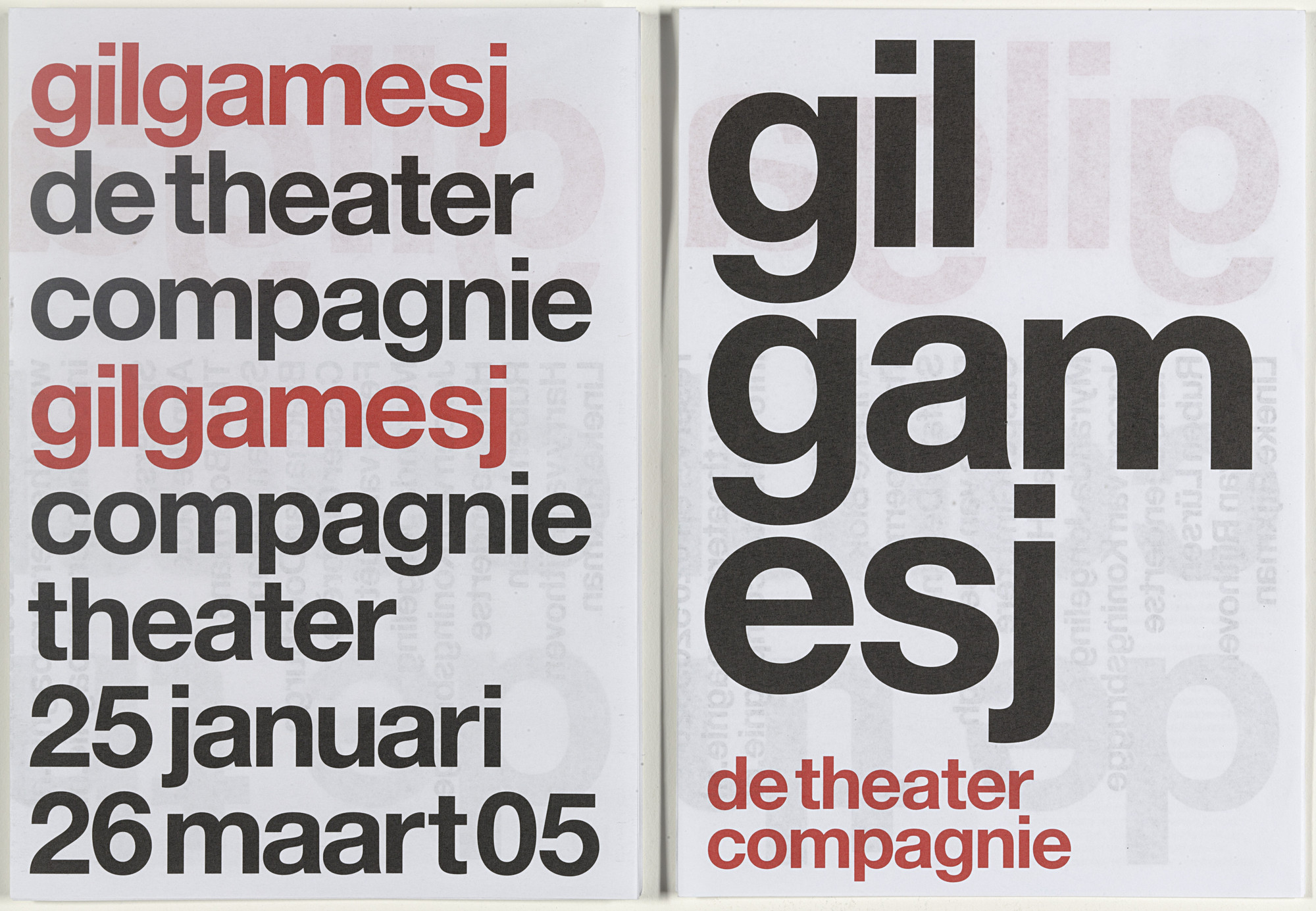 Experimental Jetset. De Theatercompagnie Program Brochures. 2004