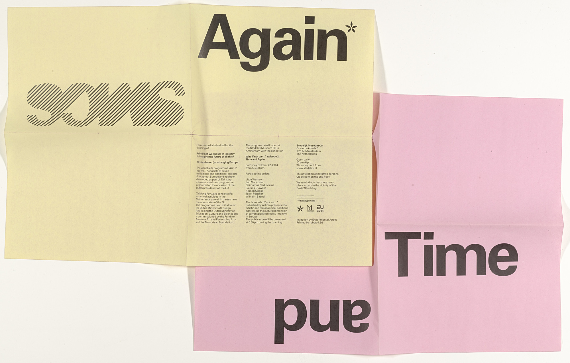 Experimental Jetset. SMCS Time and Again Exhibition Opening Invitation. 2004