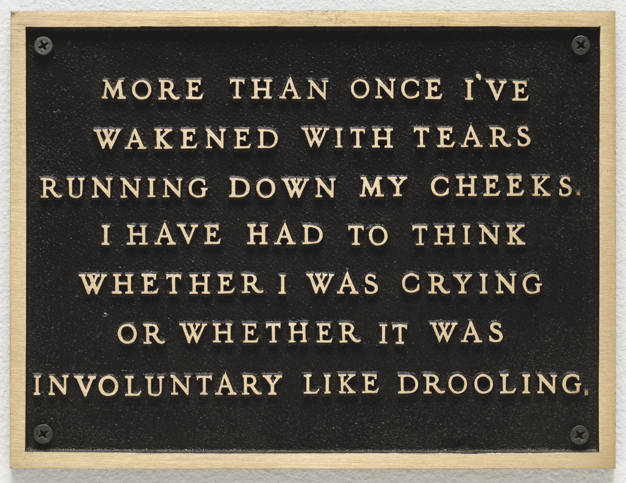 Jenny Holzer. Living: More than once I've wakened with tears.... 1980-82