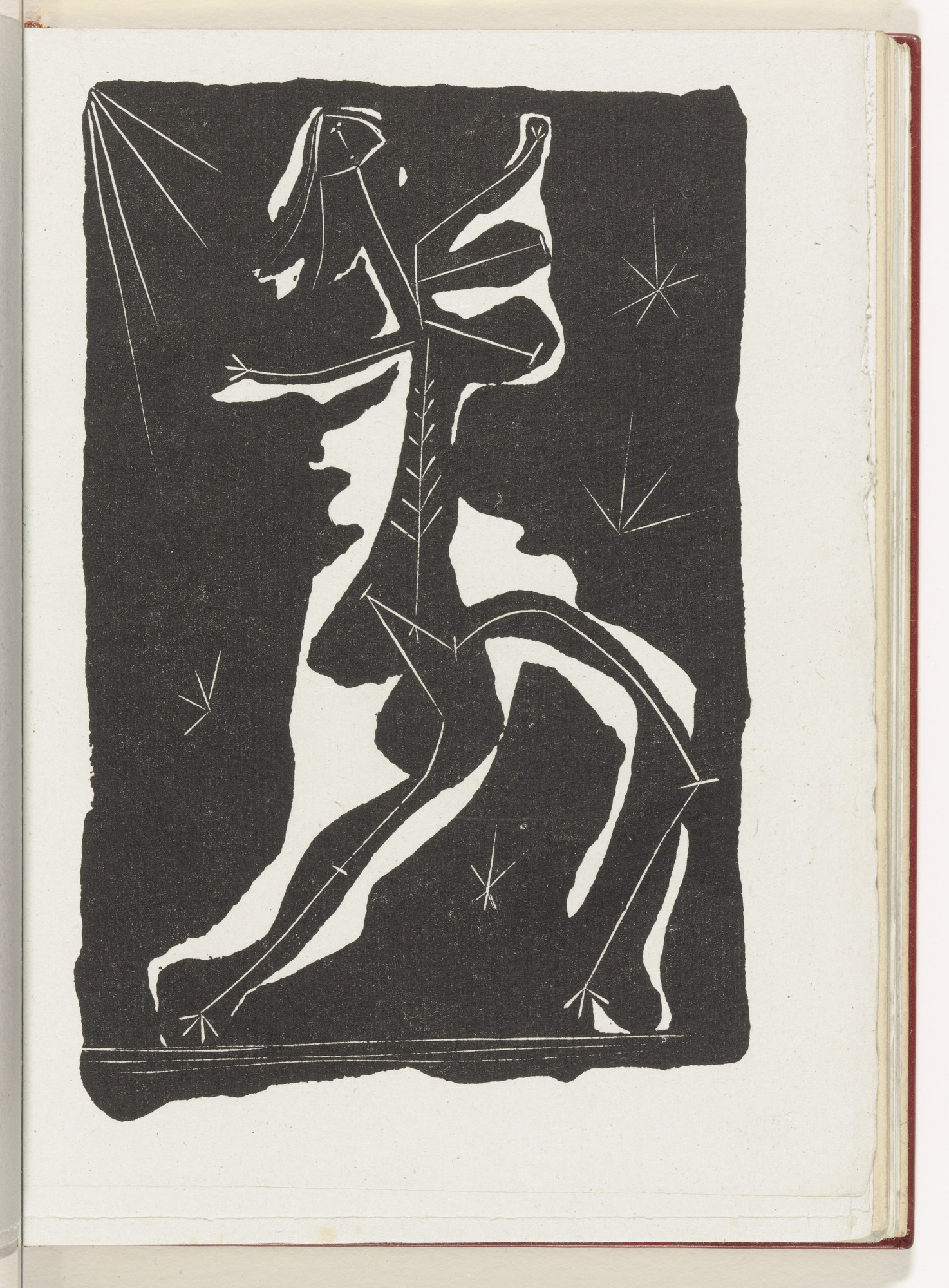 Pablo Picasso. Dancer (plate, page 35) from the illustrated book Non Vouloir. 1942