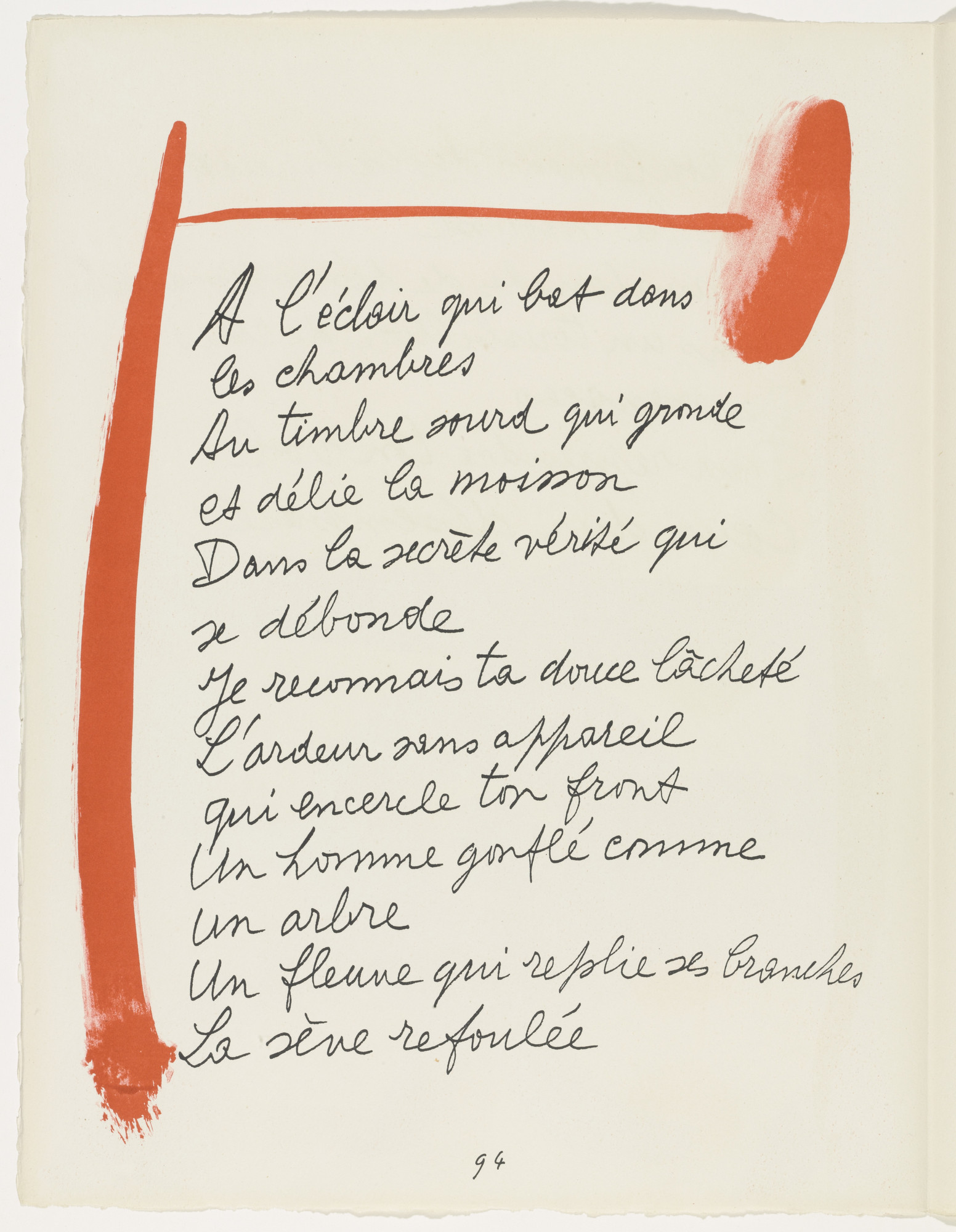 Pablo Picasso. In-text plate (page 94) from Le Chant des morts. 1945–48, published 1948 | MoMA