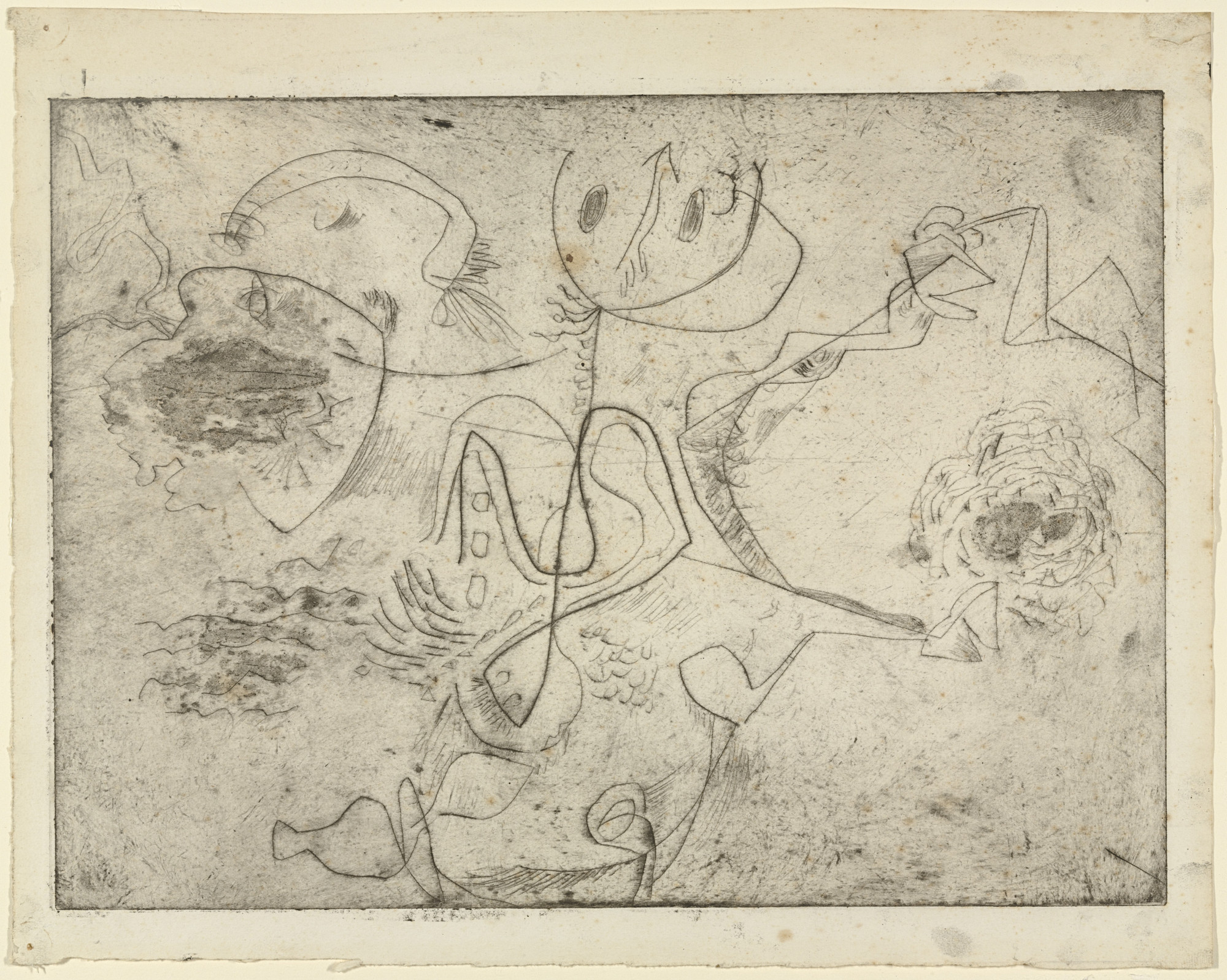 Jackson Pollock. Untitled (5), only state. 1944–1945