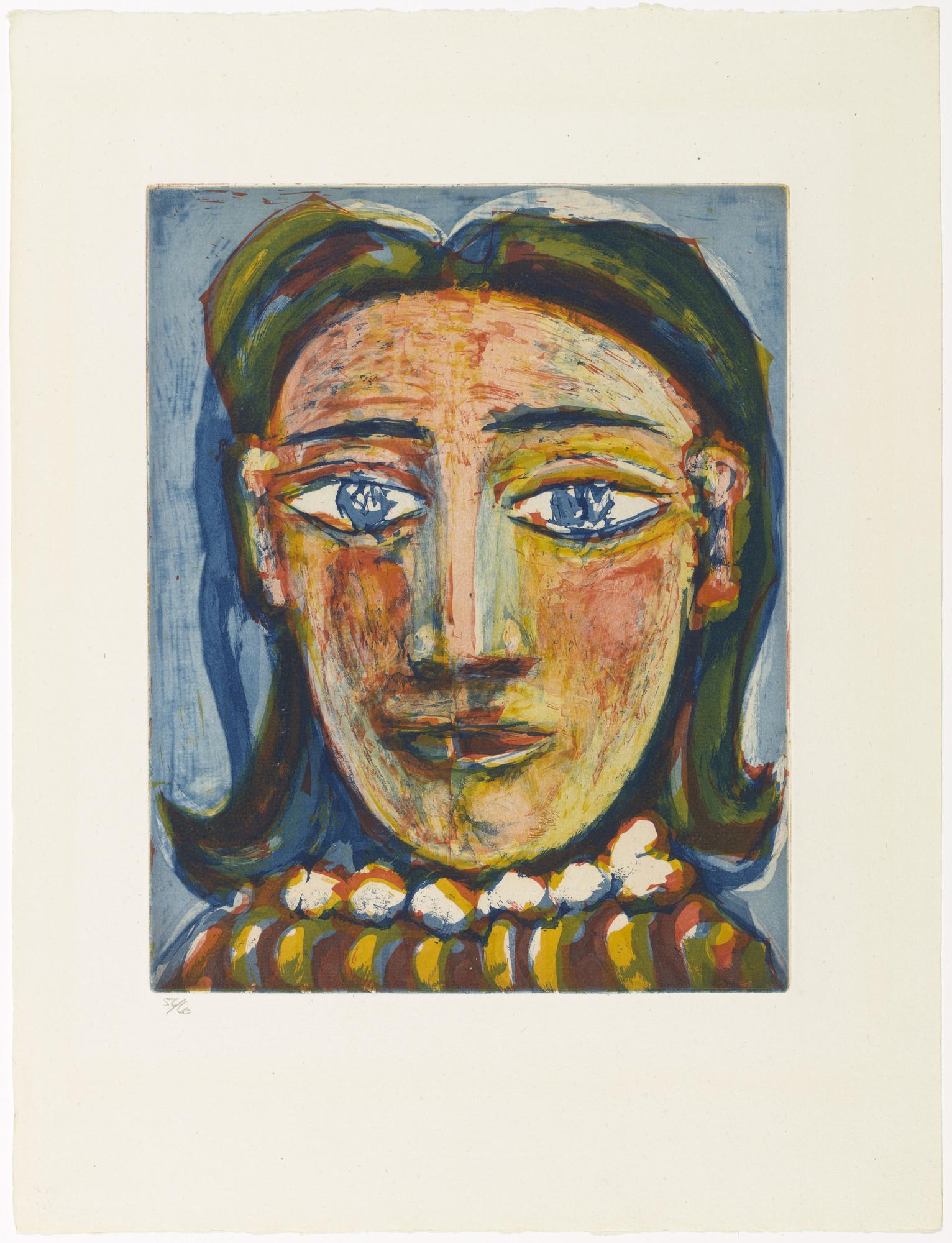 Pablo Picasso. Head of a Woman No. 1, Portrait of Dora Maar (Tête de ...