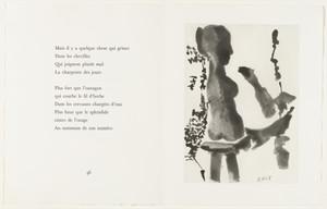Sculptor before His Sculpture Stand, with a Bearded Spectator (Sculpteur devant sa sellette, avec un spectateur barbu) (page 47) from Sable mouvant