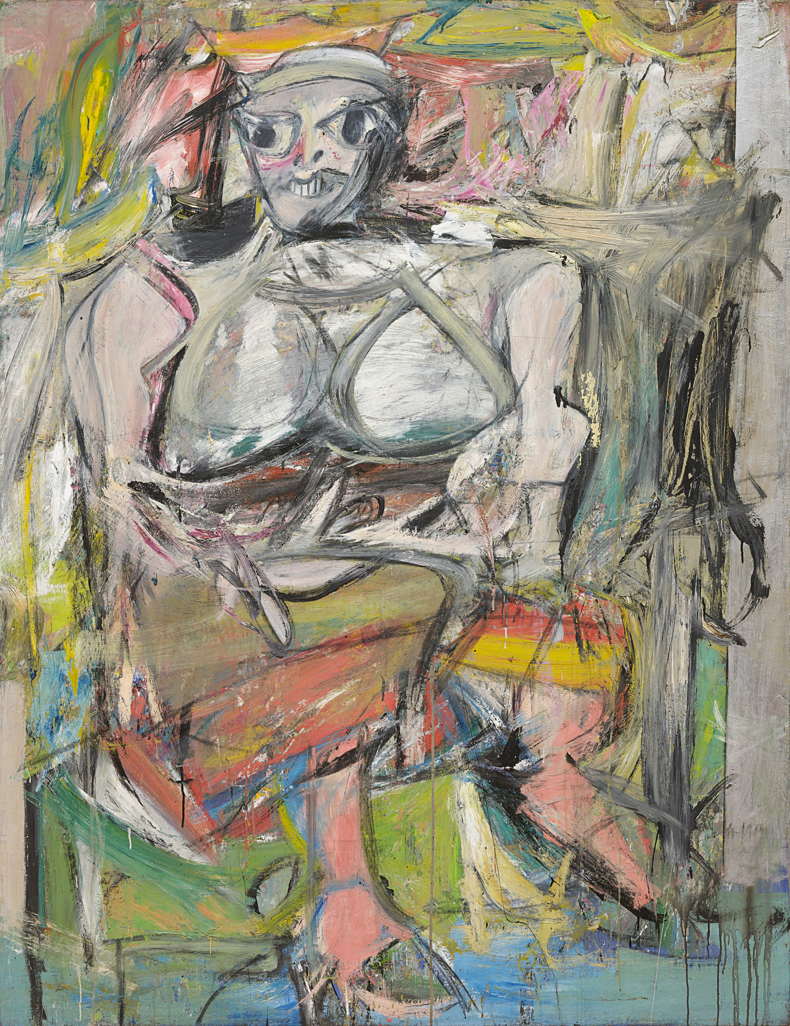 Willem de Kooning, Woman I., 1950-52