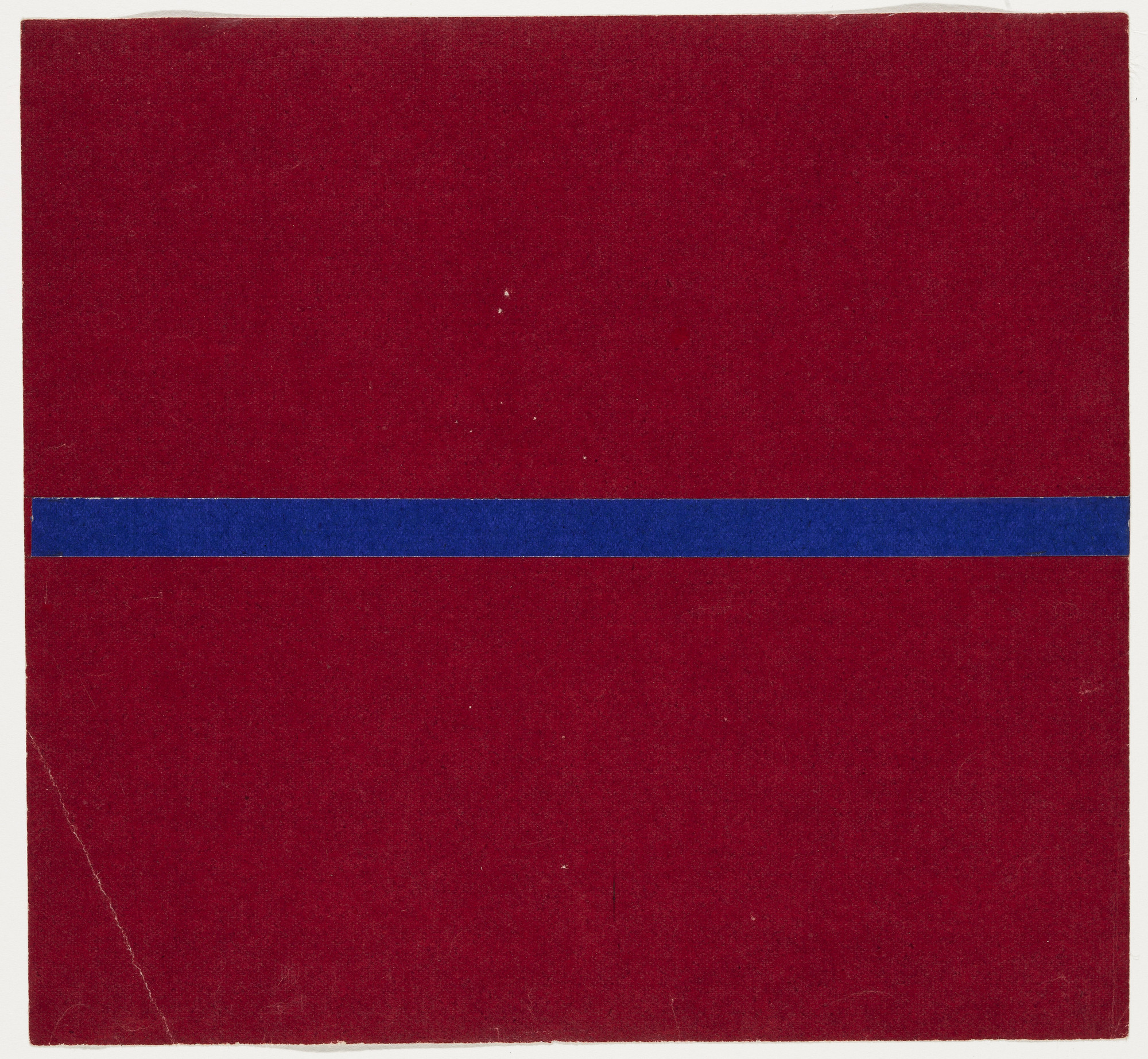 Ellsworth Kelly. Blue and Red from the series Line Form Color. 1951