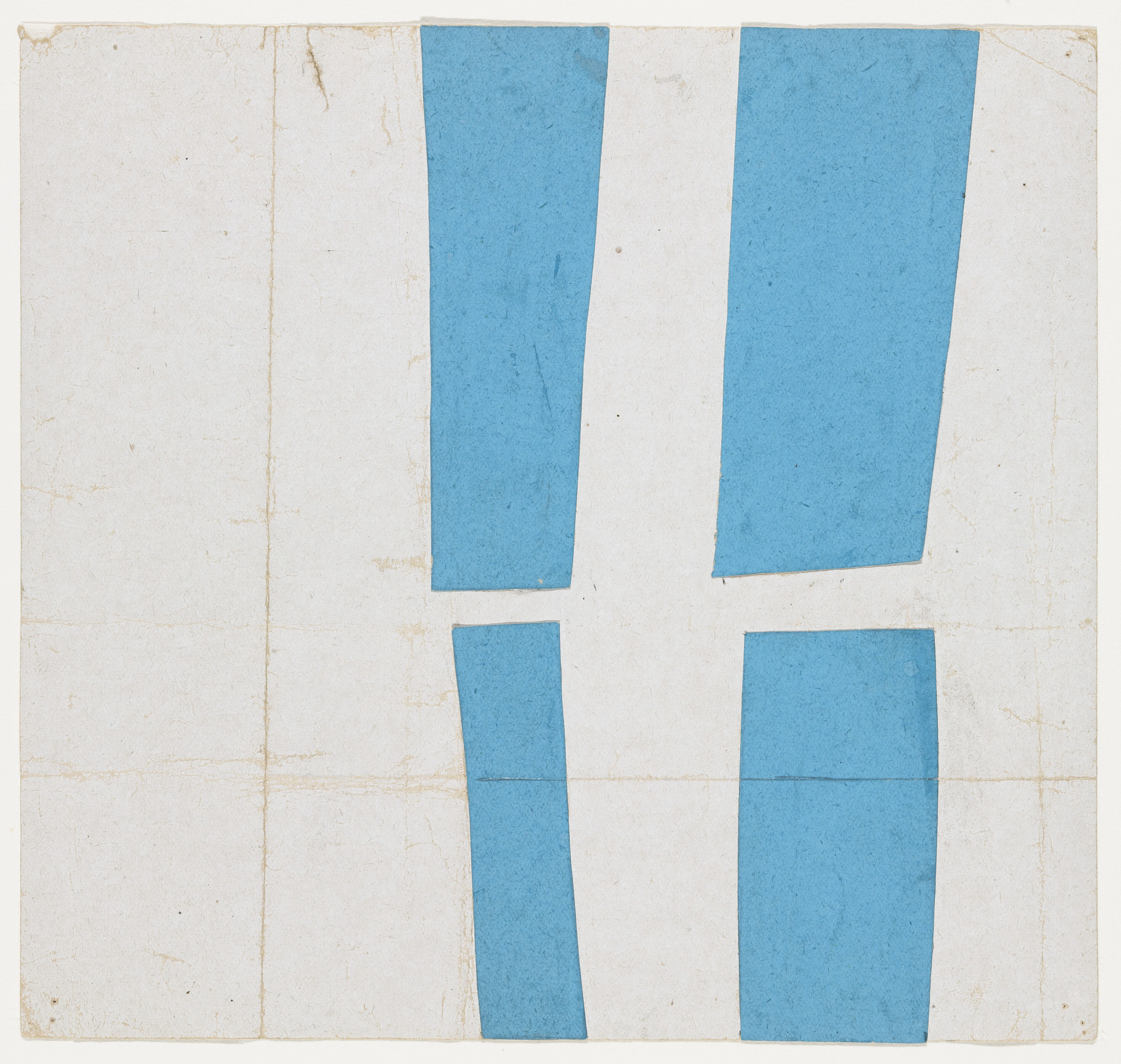 Ellsworth Kelly. Blue and White. 1951