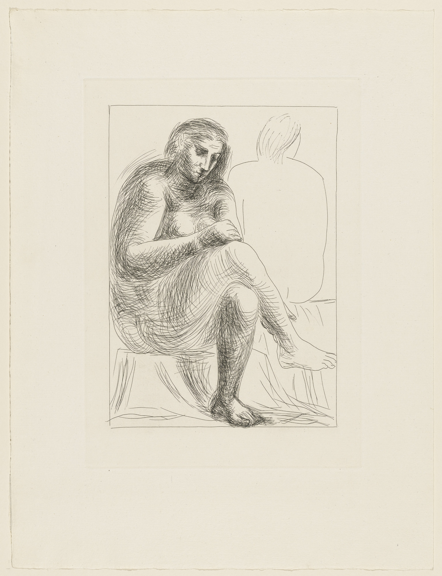 Pablo Picasso. At the Bath (Au bain) from the Vollard Suite (Suite Vollard). 1930, published 1939