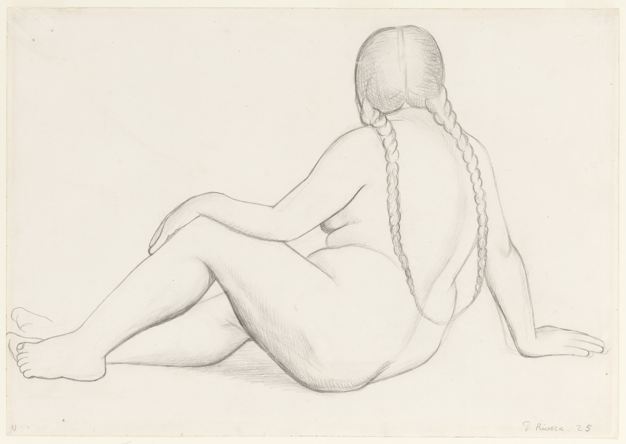 Diego Rivera. Nude with Braided Hair. 1925