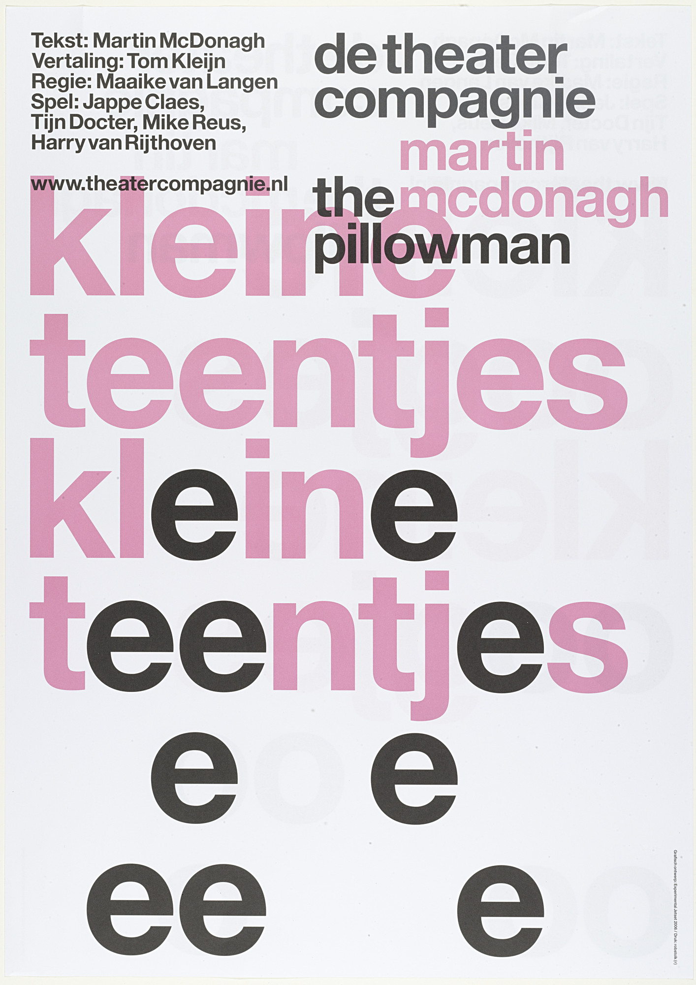 Experimental Jetset De Theatercompagnie The Pillowman 2005 Moma