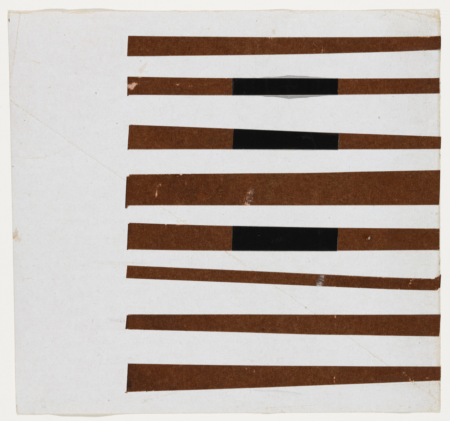 Ellsworth Kelly. Black, Brown, White. 1951