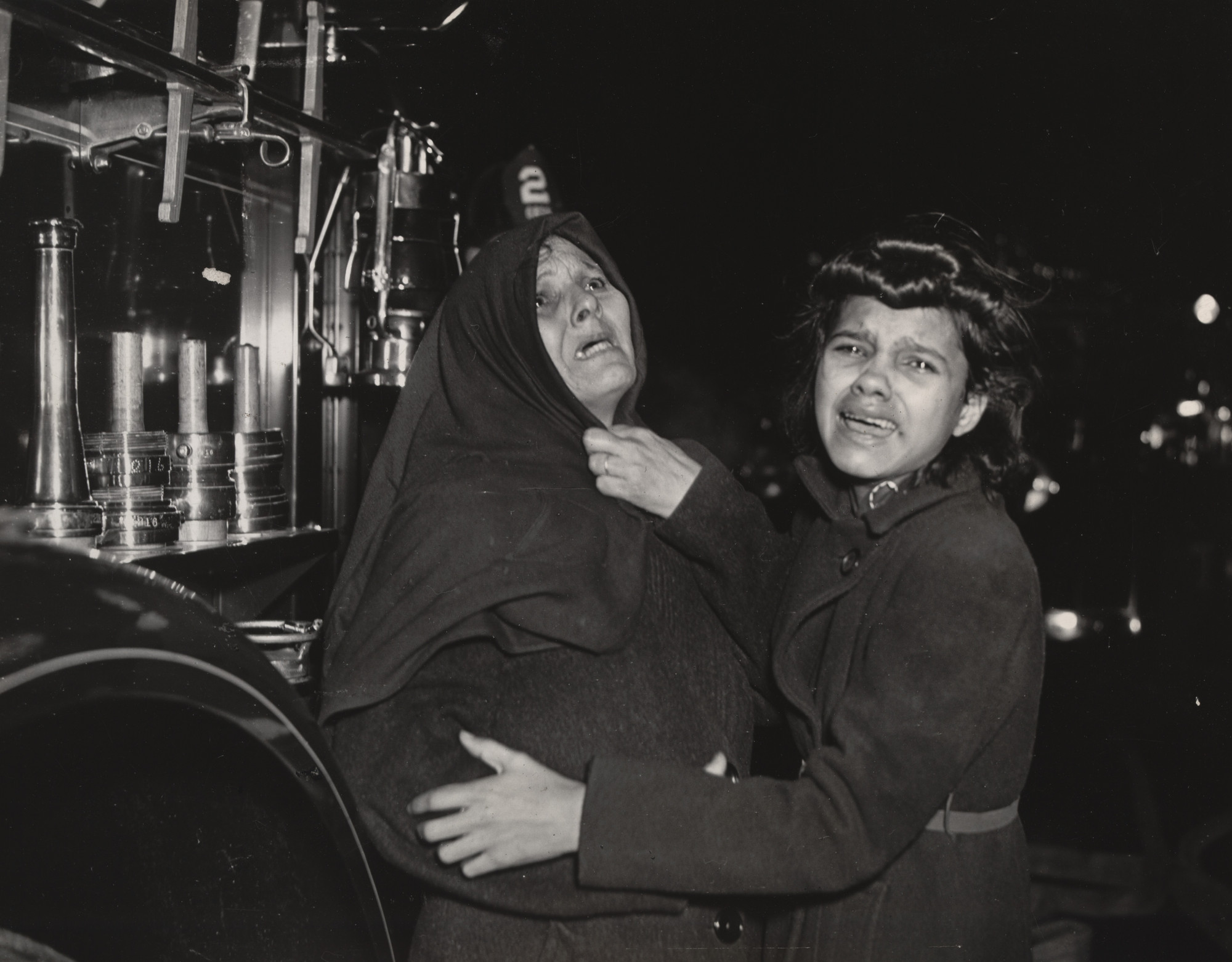 Weegee (Arthur Fellig). Tenement Fire. 1939