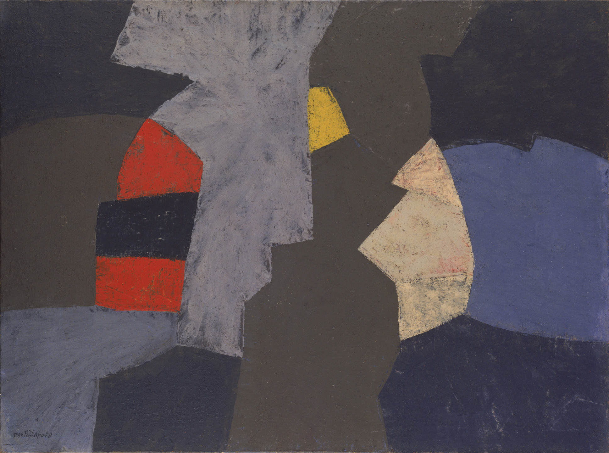 Serge Poliakoff. Abstract Composition, Composition abstrait. 1956