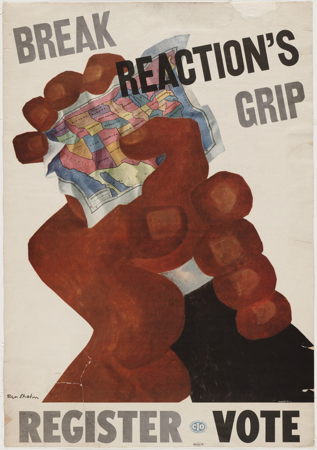 Ben Shahn. Break Reaction's Grip, Register, Vote. 1944