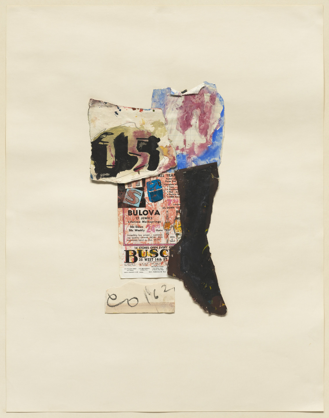 Claes Oldenburg. A Sock and 15 Cents (Studies for Store Objects). 1961, dated 1962