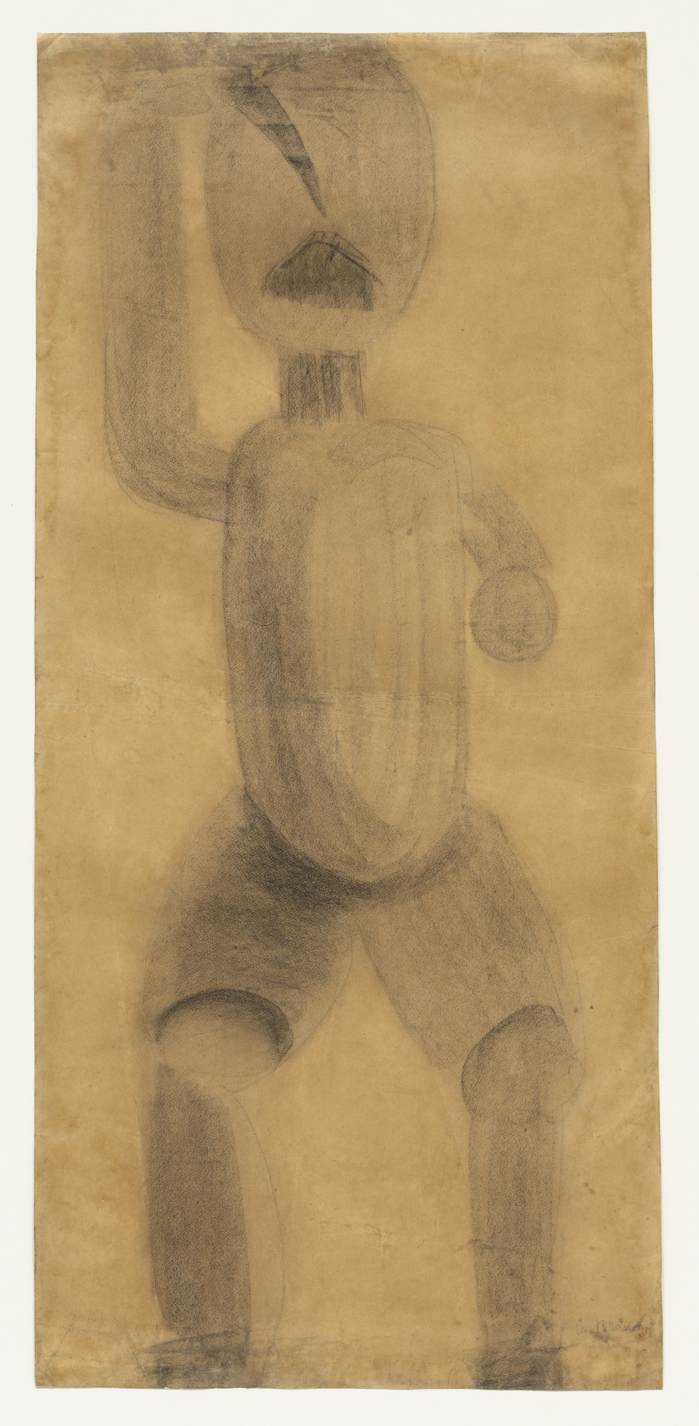 "Constantin Brancusi. Study related to ""The First Step"". 1913"