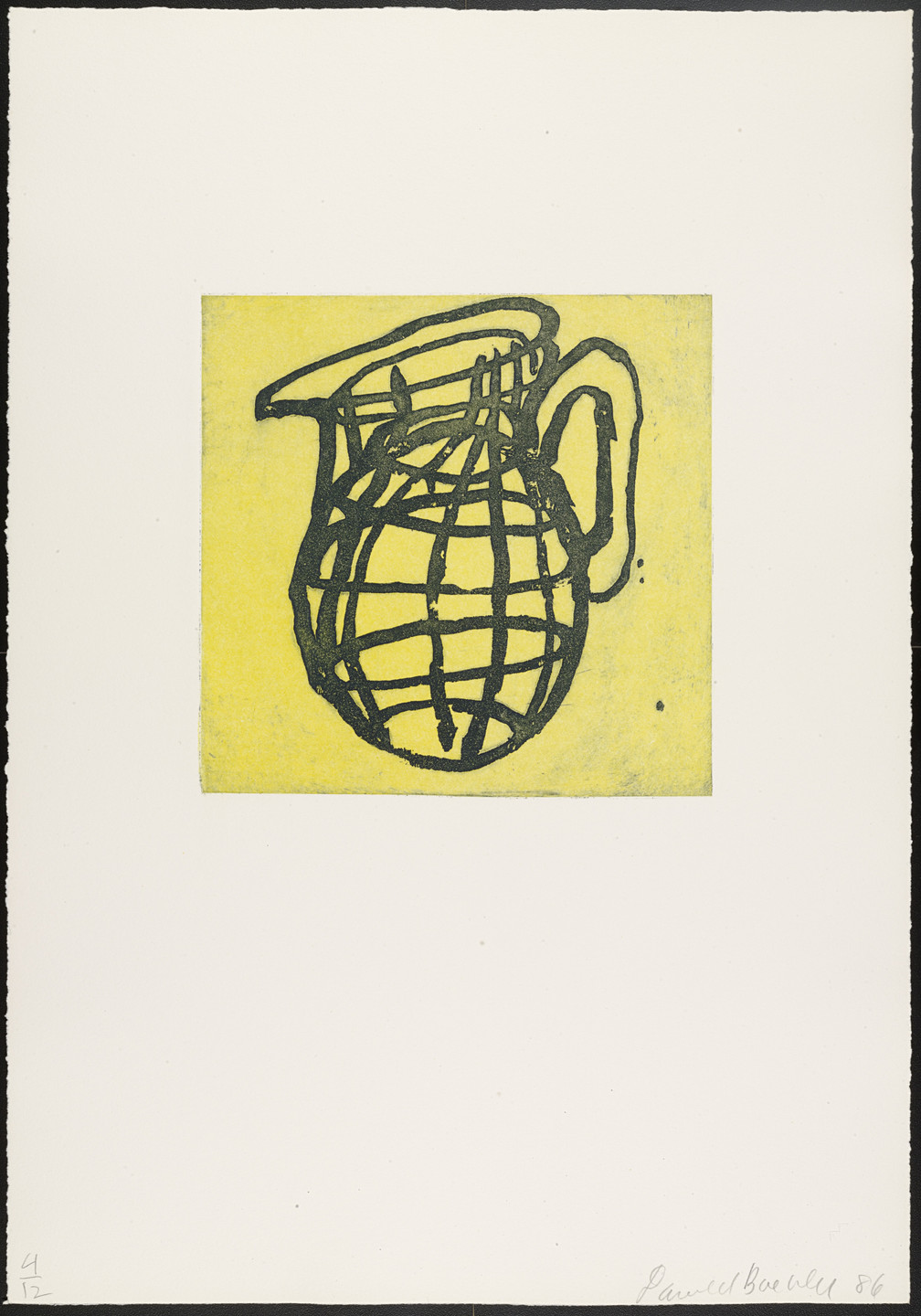 Donald Baechler. Untitled from Objects. 1986