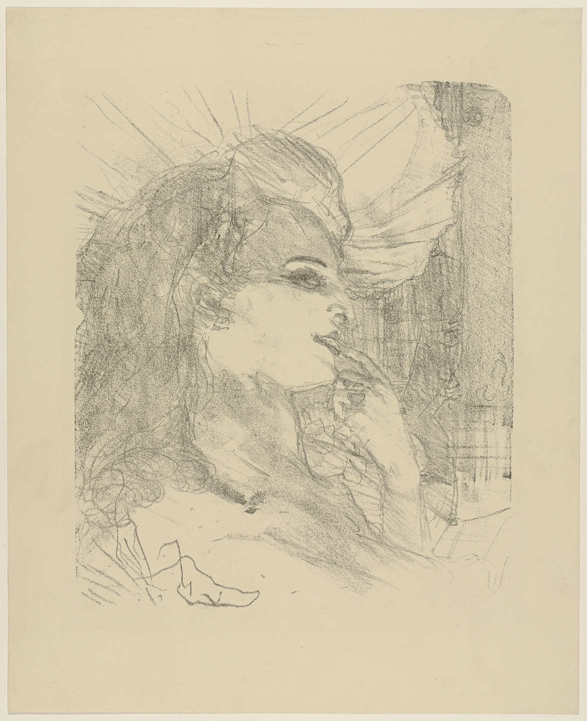 Henri de Toulouse-Lautrec. Anna Held from Portraits of Actors and Actresses: Thirteen Lithographs (Portraits d'Acteurs & Actrices: Treize Lithographies). 1898