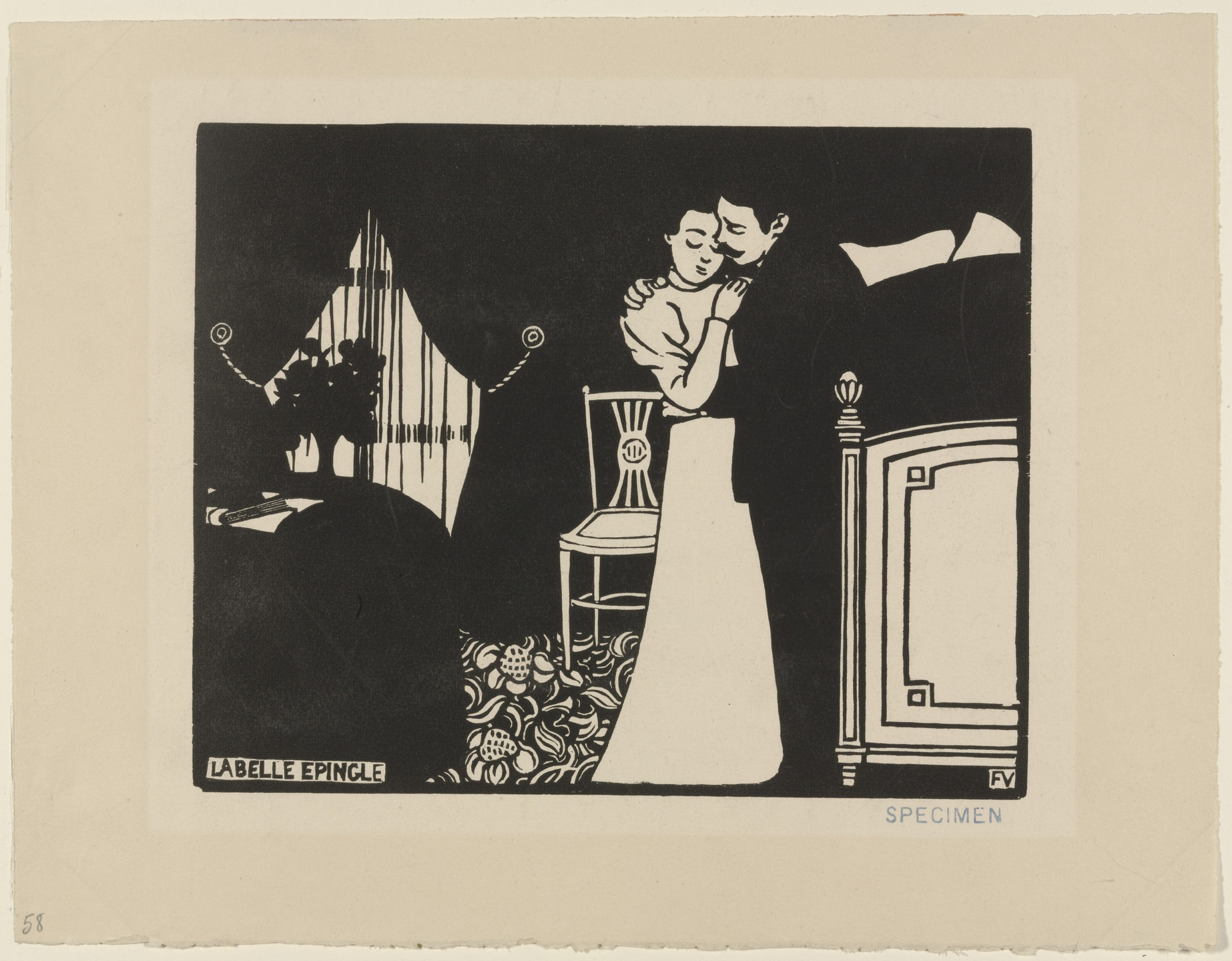 Félix Vallotton. The Fine Pin (La Belle epingle) from Intimacies (Intimités). 1897