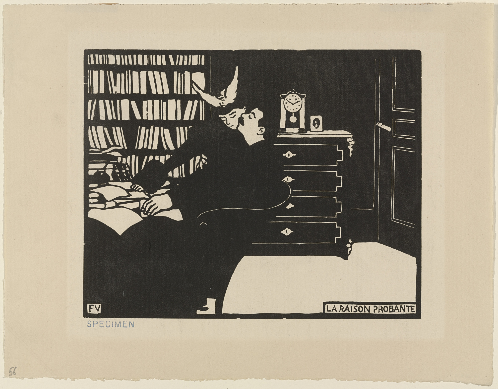 Félix Vallotton. The Cogent Reason (La Raison probante) from Intimacies (Intimités). 1897