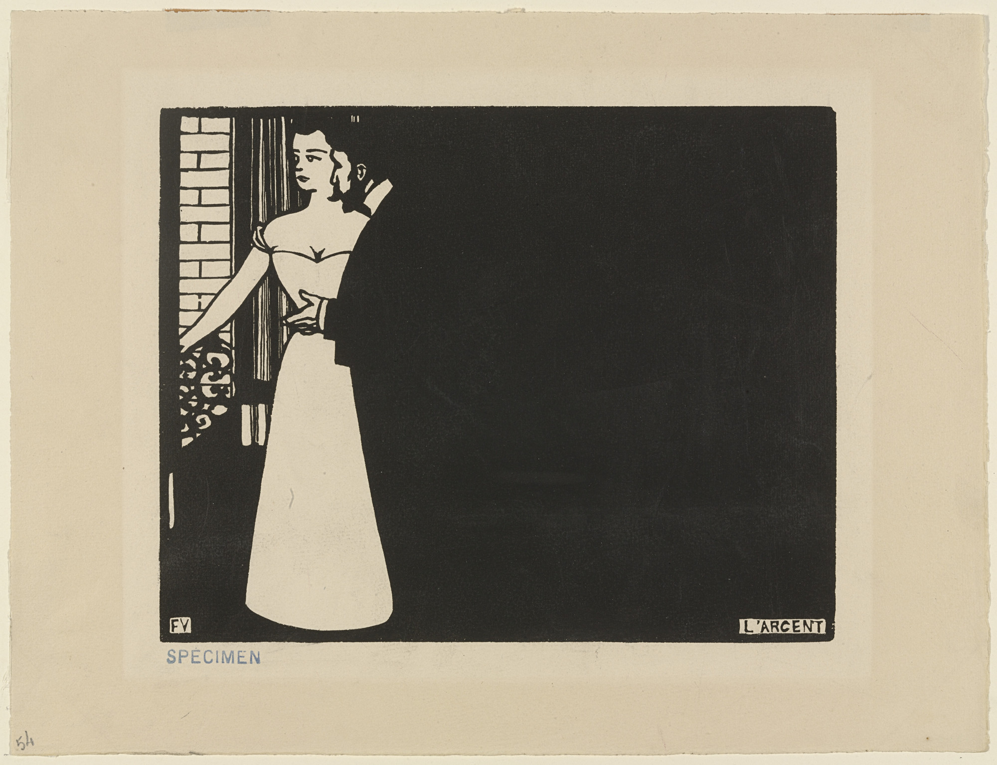 Félix Vallotton. Money (L'Argent) from Intimacies (Intimités). 1897