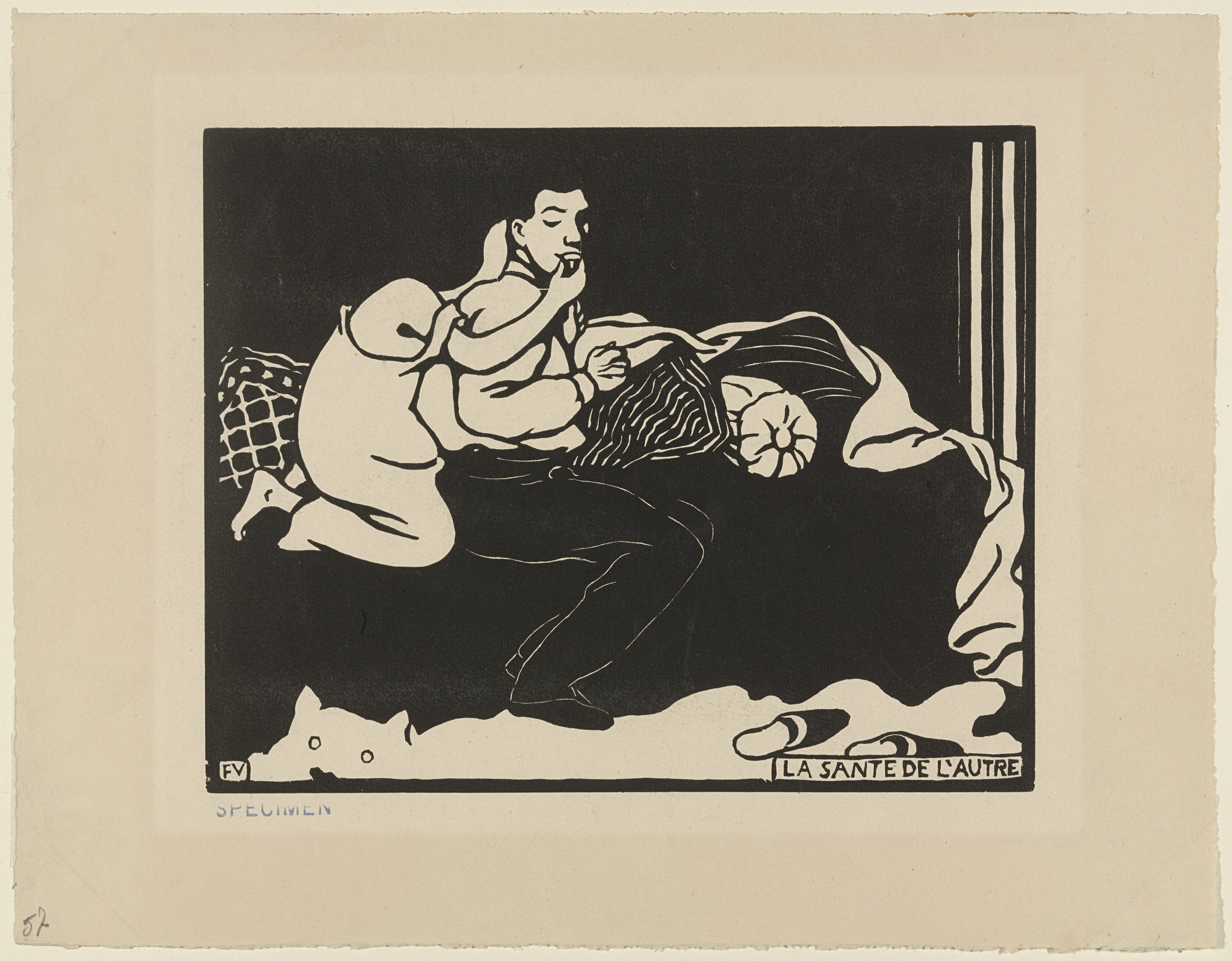 Félix Vallotton. The Other's Health (La Sante de l'autre) from Intimacies (Intimités). 1897