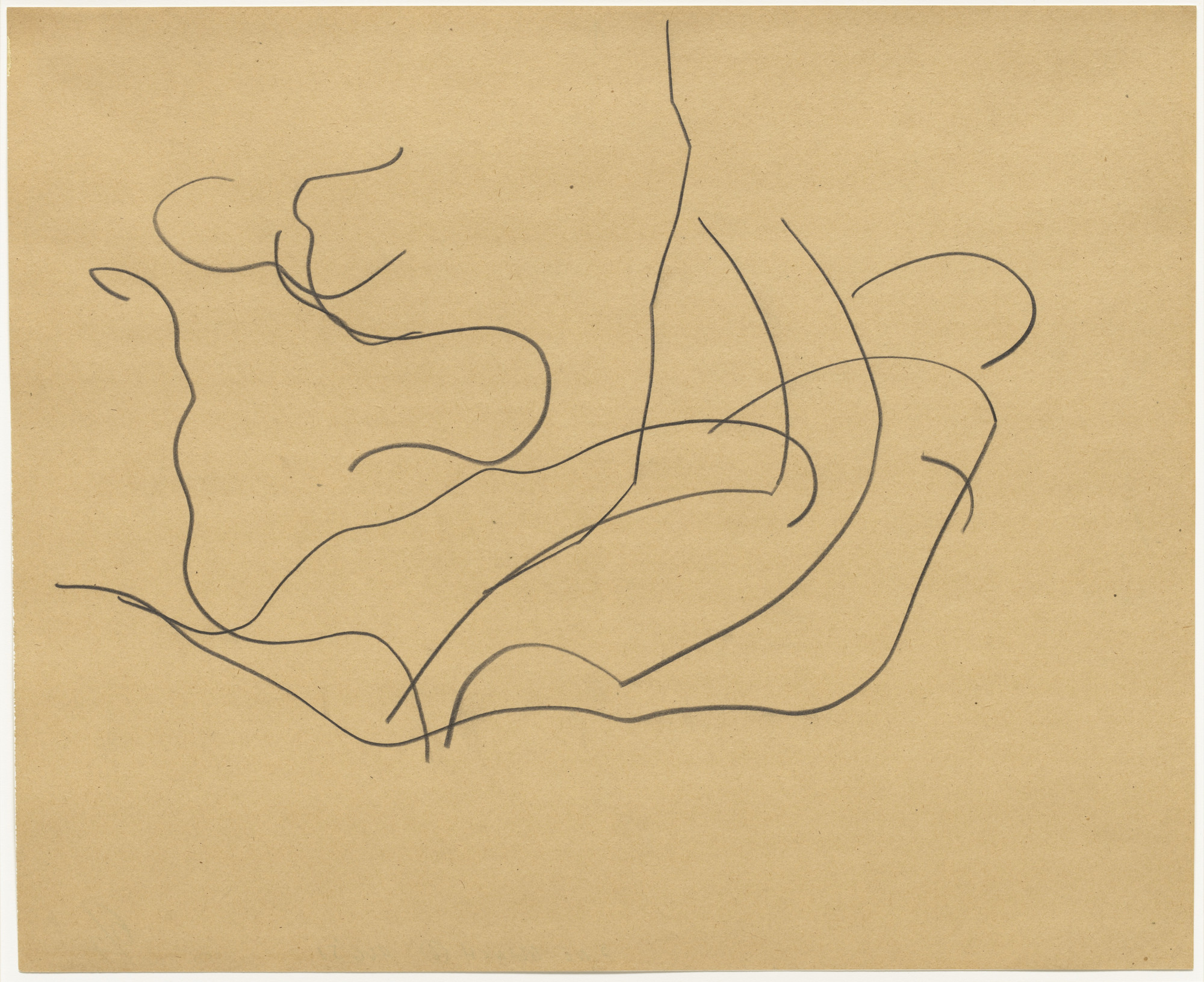 Ellsworth Kelly. Automatic Drawing: Pine Branches VI. 1950