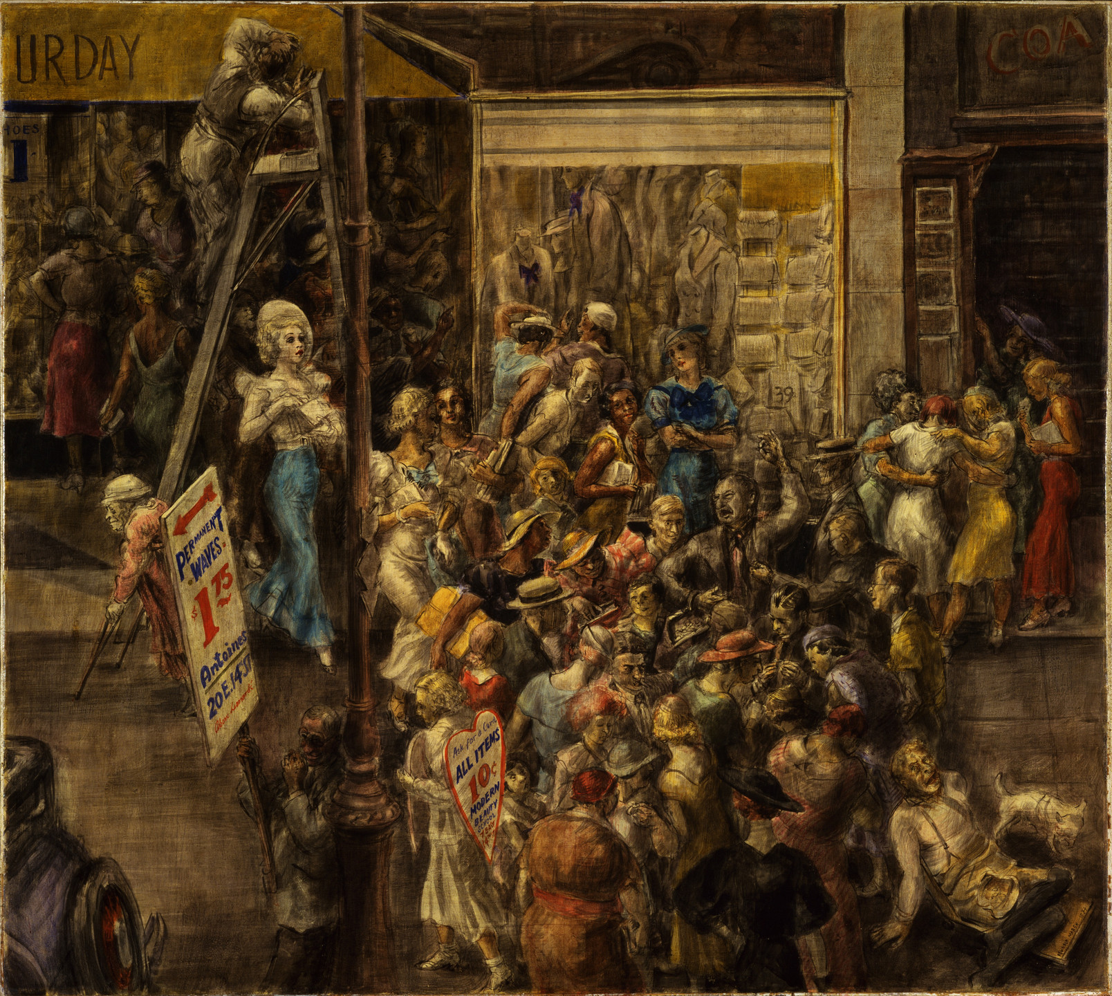 Reginald Marsh. In Fourteenth Street. 1934