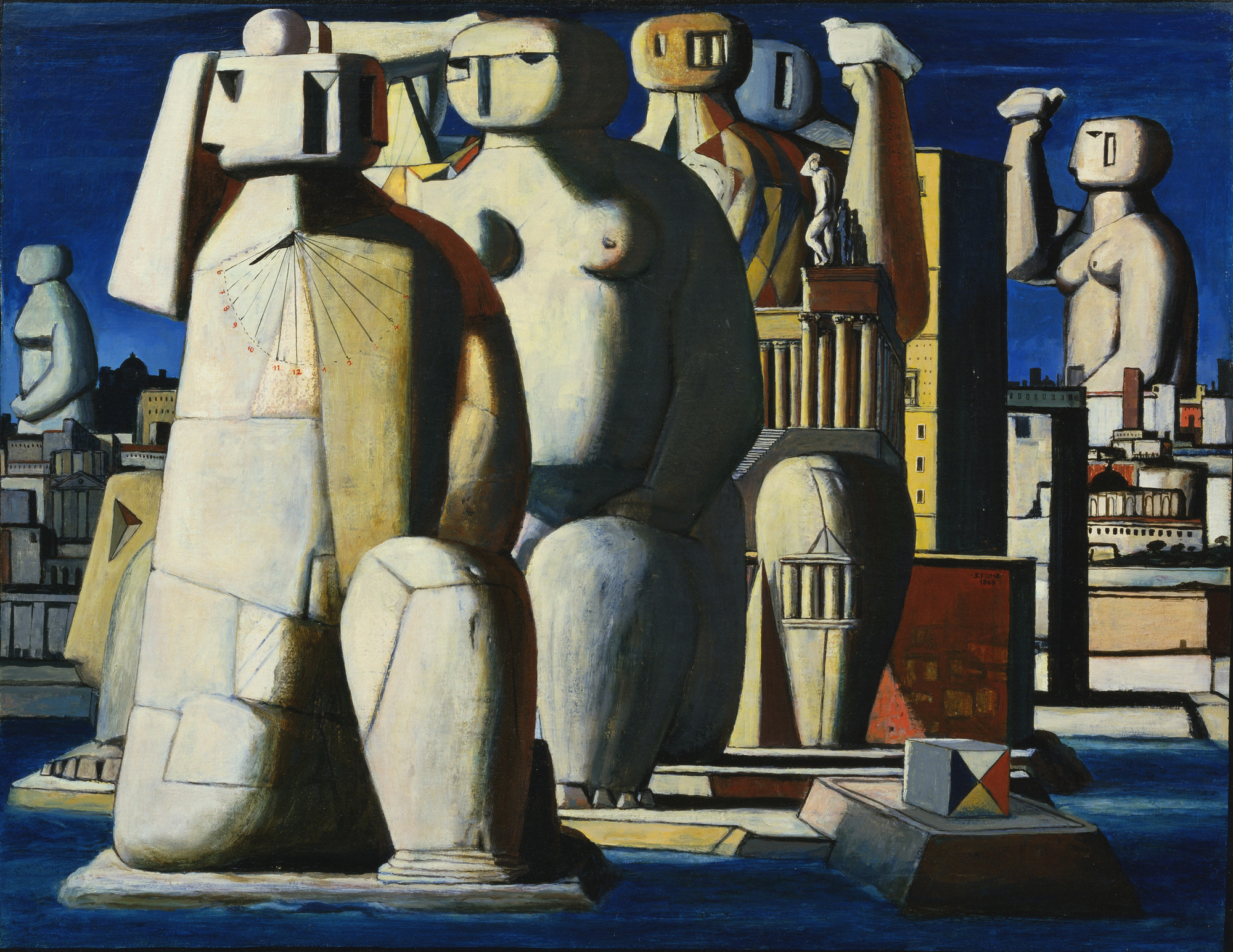 Salvatore Fiume. Island of Statues. 1948