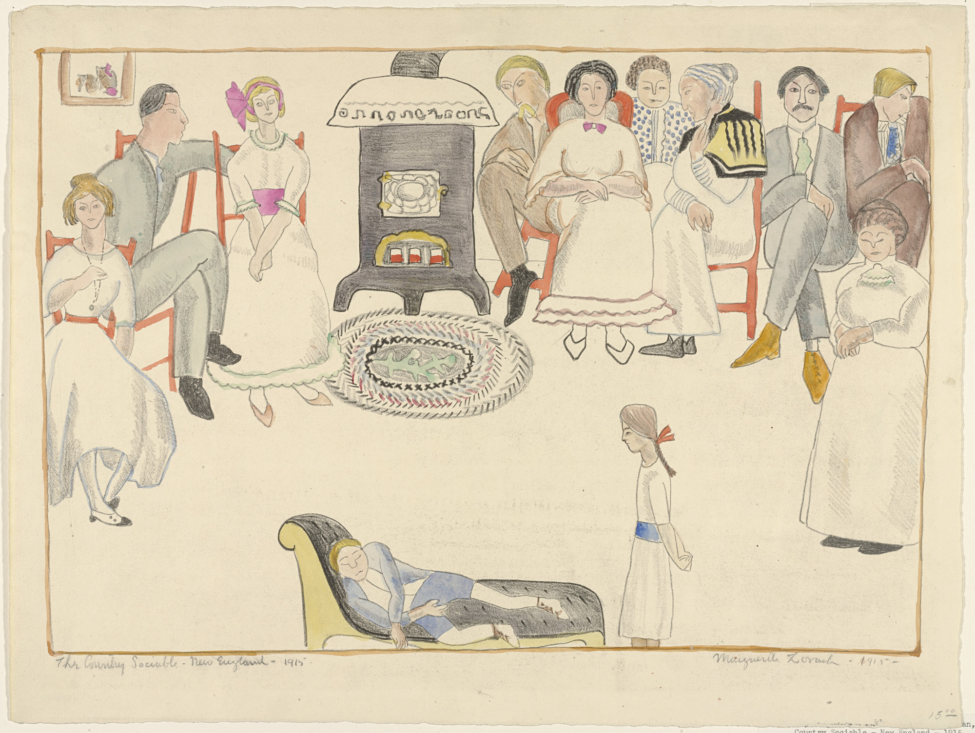 Marguerite Zorach. The Country Sociable - New England - 1915. 1915