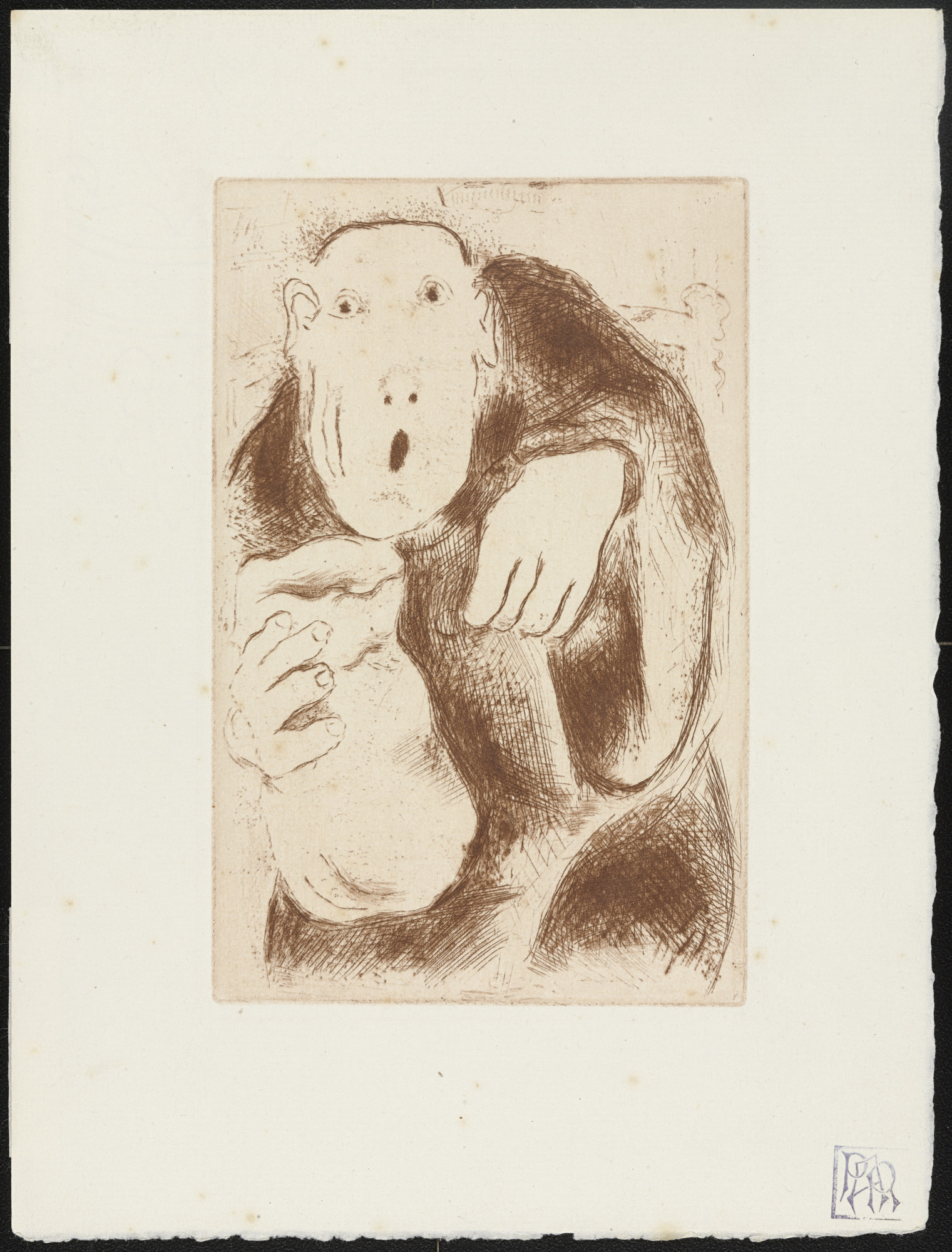 Marc Chagall. Avarice I (L'Avarice I) from The Seven Deadly Sins (Les Sept péchés capitaux). 1925, published 1926