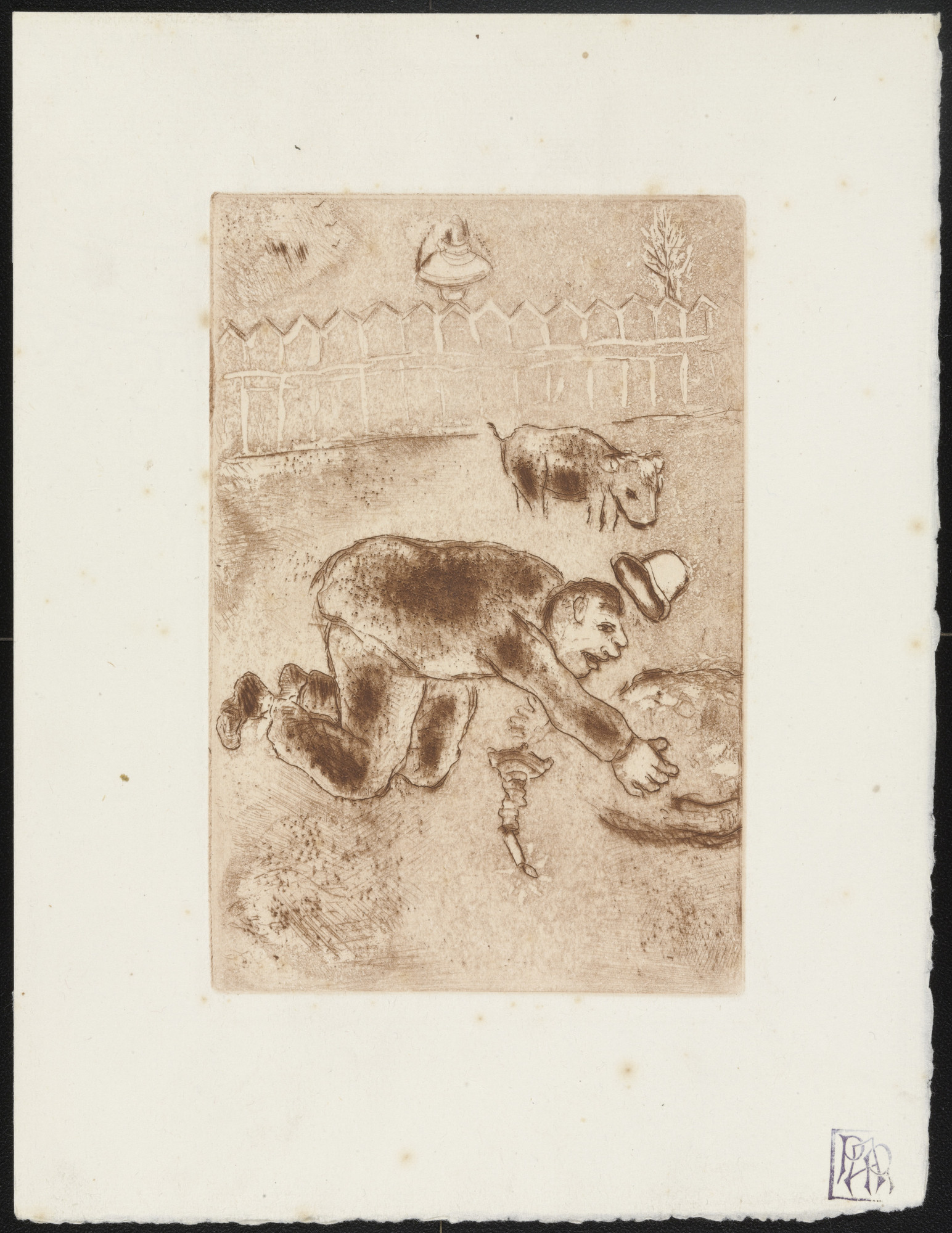 Marc Chagall. Avarice II (L'Avarice II) from The Seven Deadly Sins (Les Sept péchés capitaux). 1925, published 1926