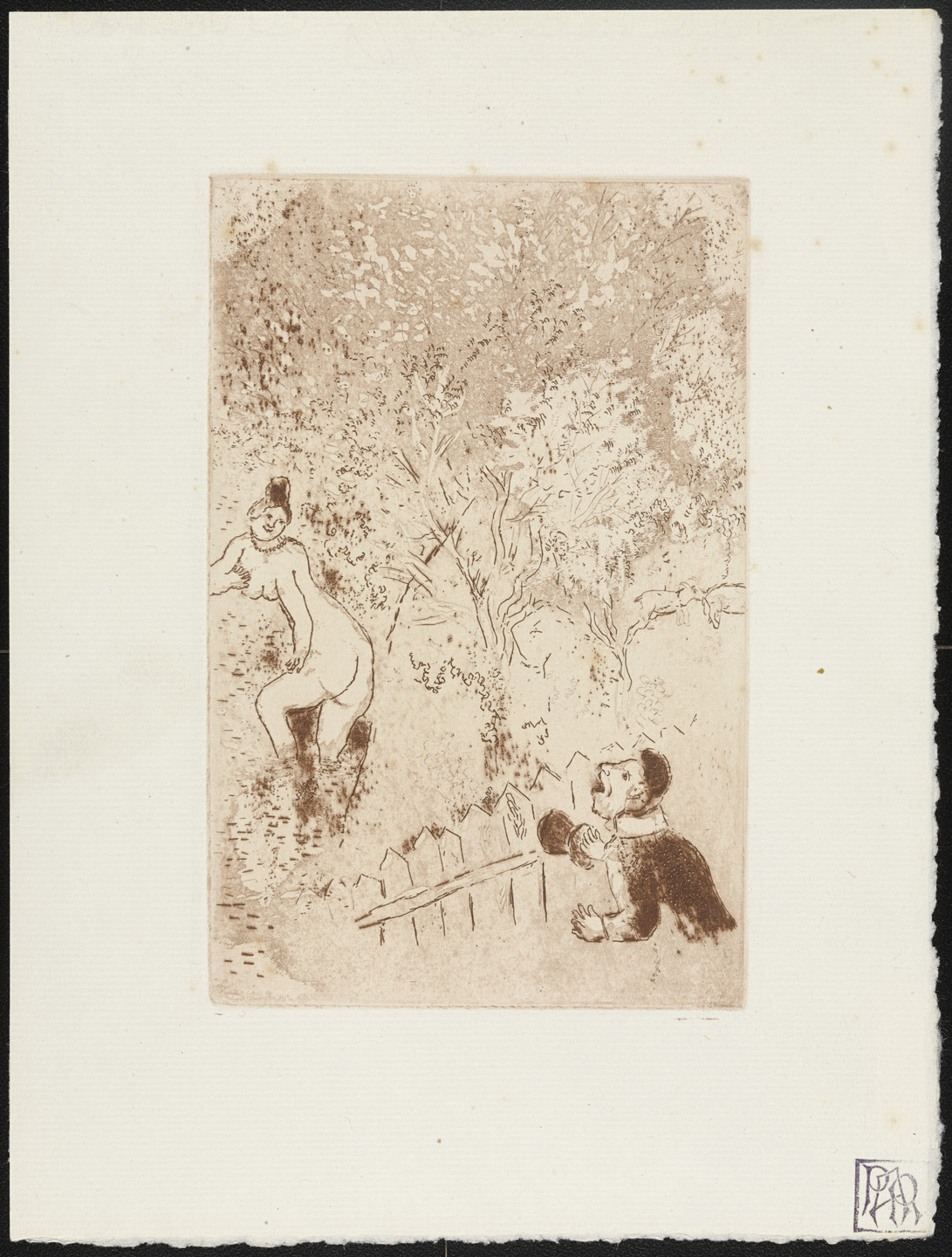 Marc Chagall. Envy II (L'Envie II) from The Seven Deadly Sins (Les Sept péchés capitaux). 1925, published 1926