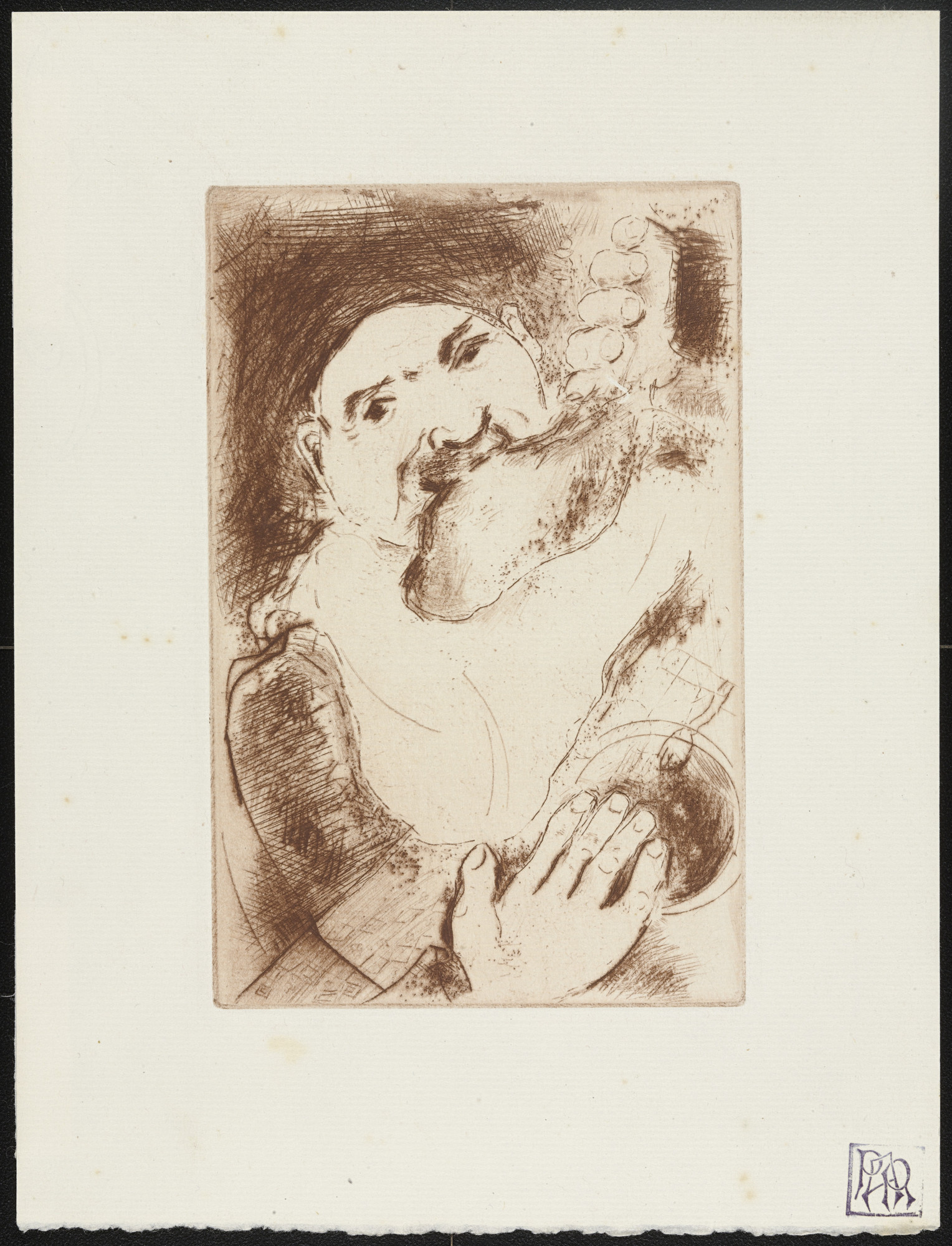 Marc Chagall. Gluttony I (La Gourmandise I) from The Seven Deadly Sins (Les Sept péchés capitaux). 1925, published 1926