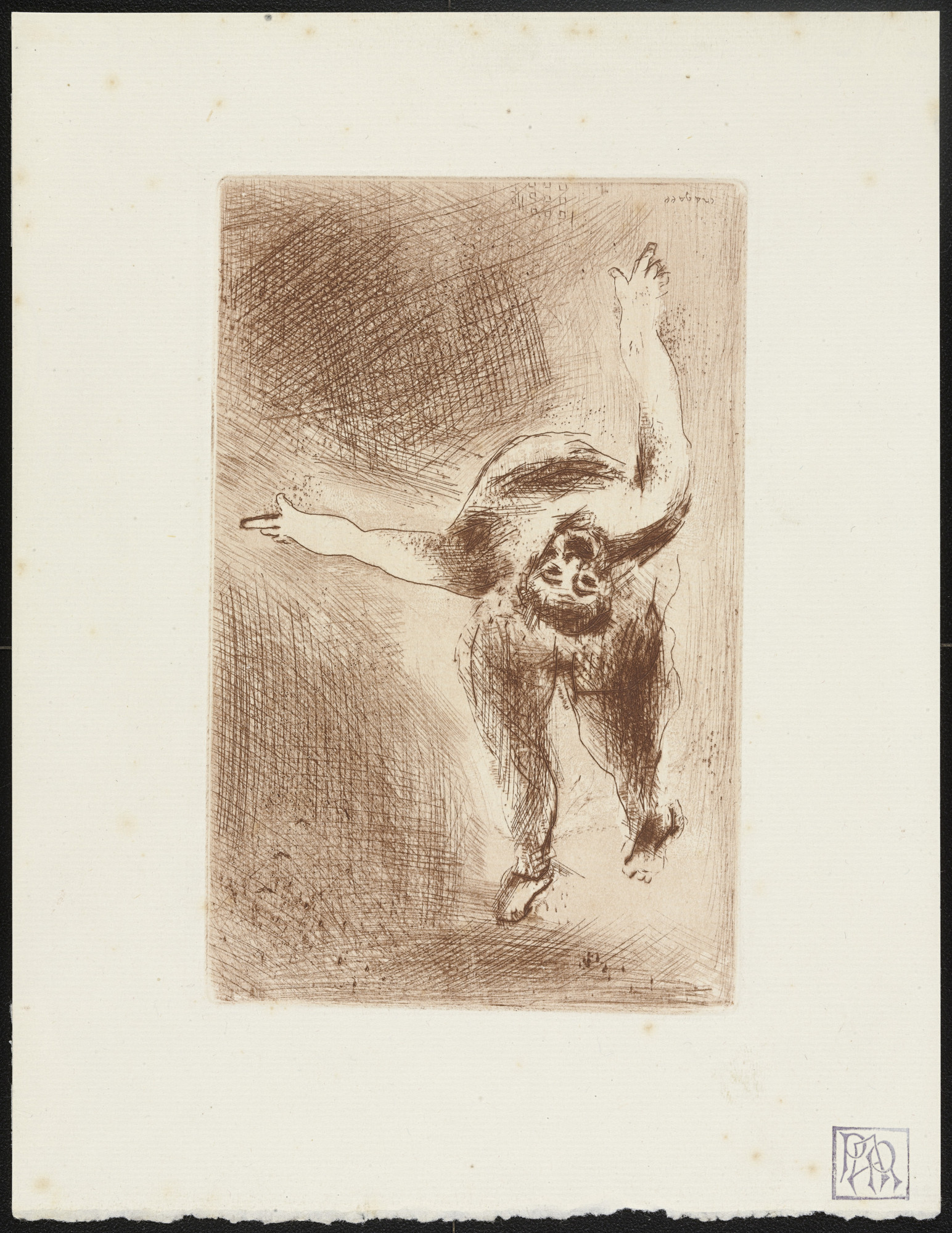 Marc Chagall. Wrath II (La Colère II) from The Seven Deadly Sins (Les Sept péchés capitaux). 1925, published 1926