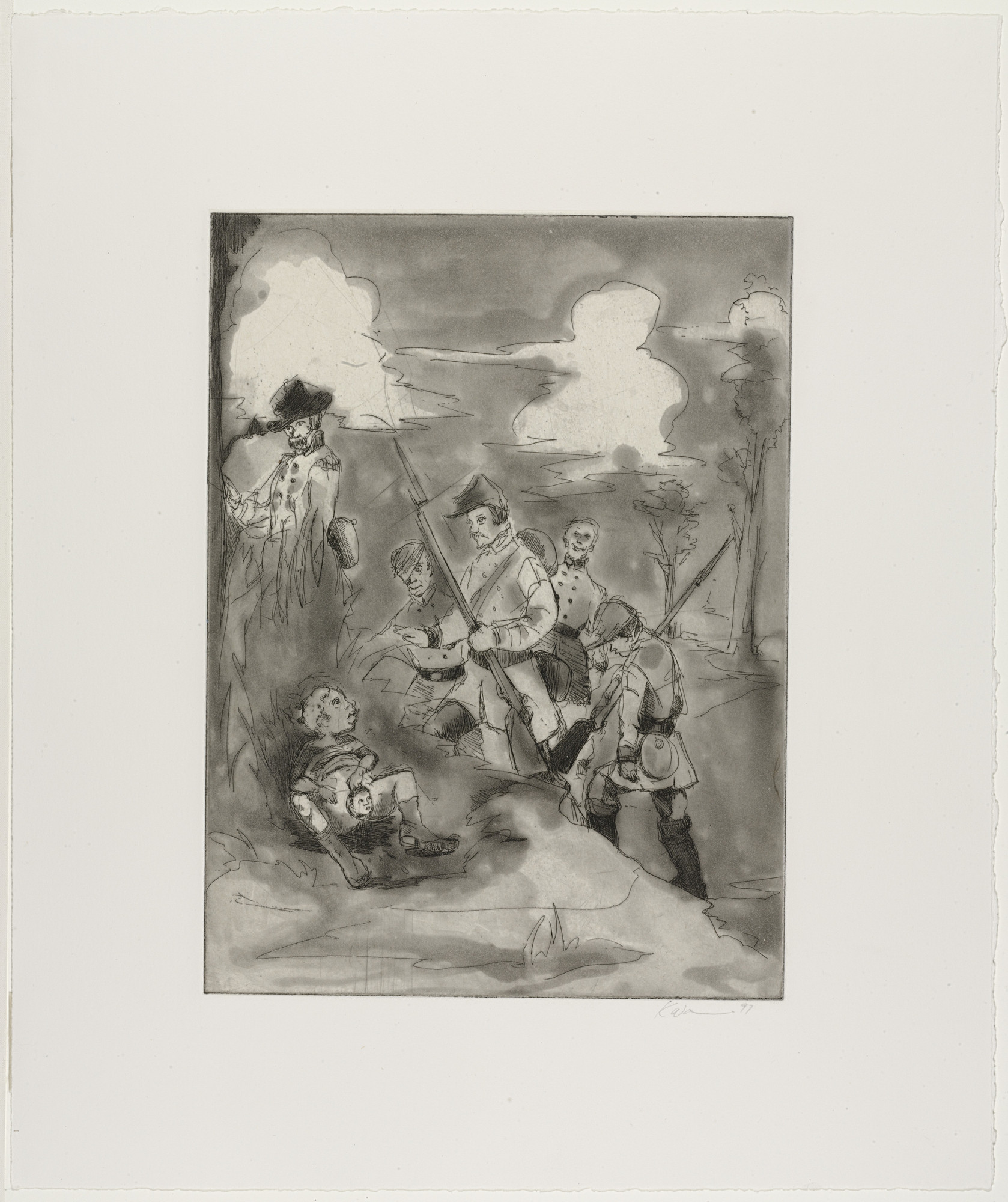 Kara Walker. L'l Patch of Woods. 1997