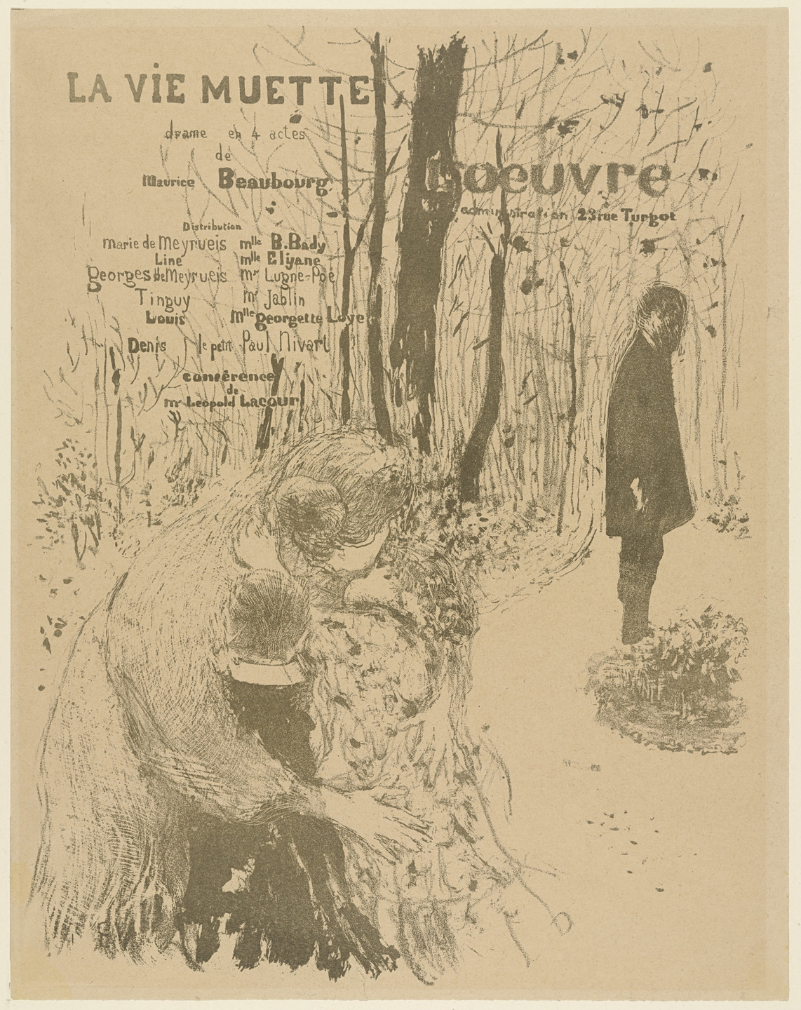 Édouard Vuillard. Program for La Vie Muette. November 1894