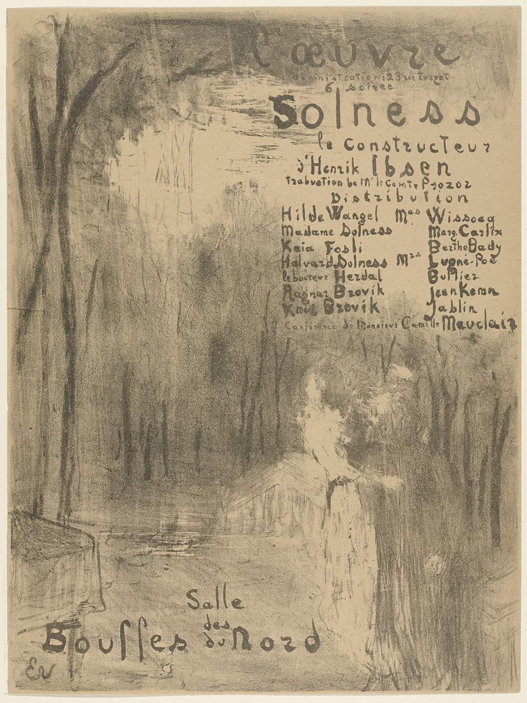 Édouard Vuillard. Program for Solness Le Constructeur. April 1894