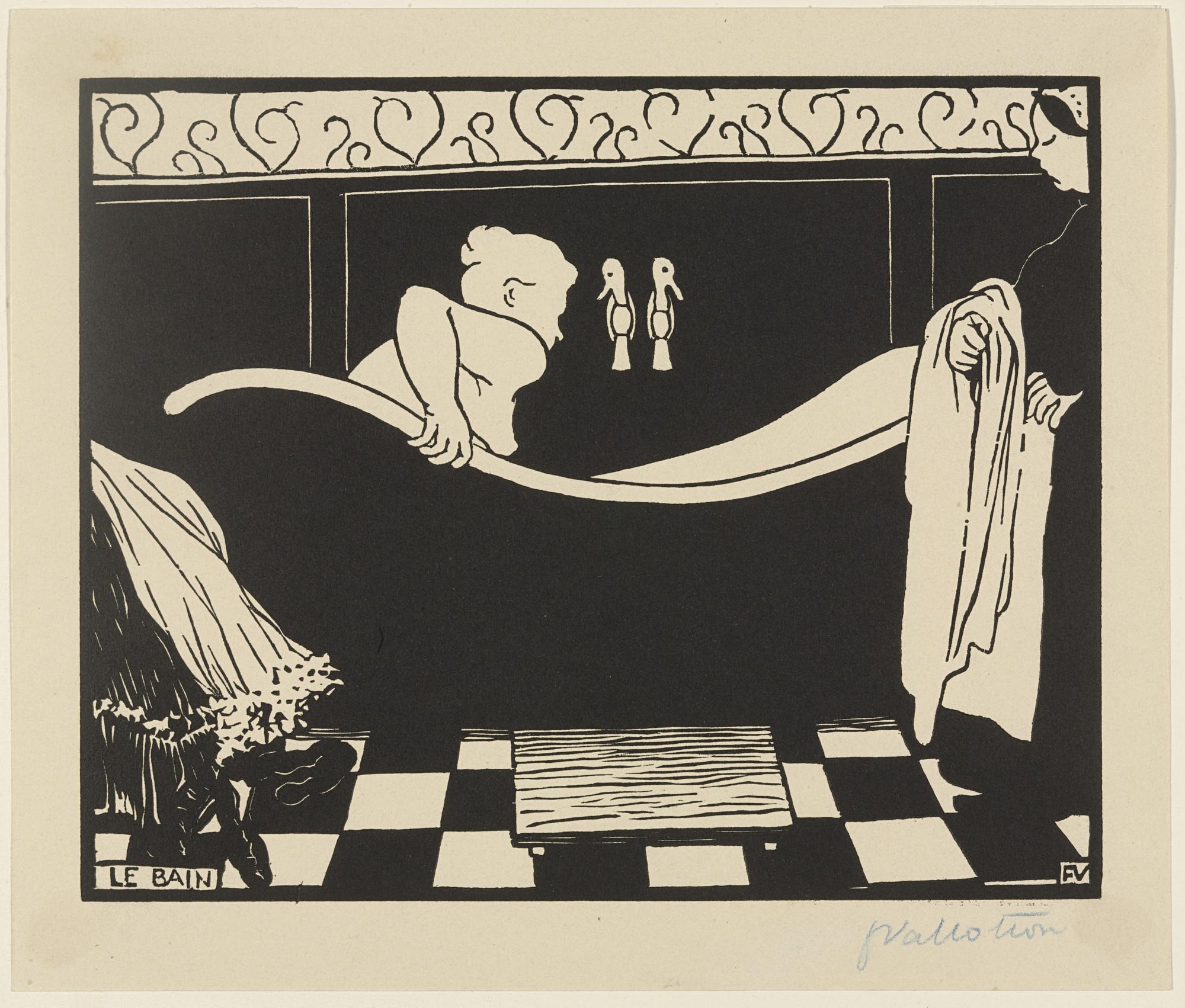 Félix Vallotton. The Bath (Le Bain) from the portfolio The Original ...