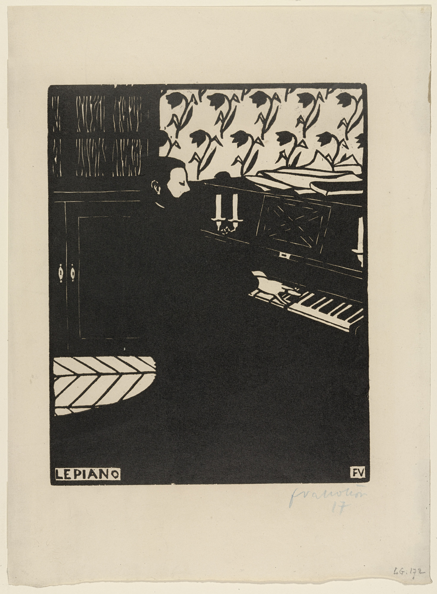 Félix Vallotton. The Piano, plate IV from the series Six Musical Instruments. 1896