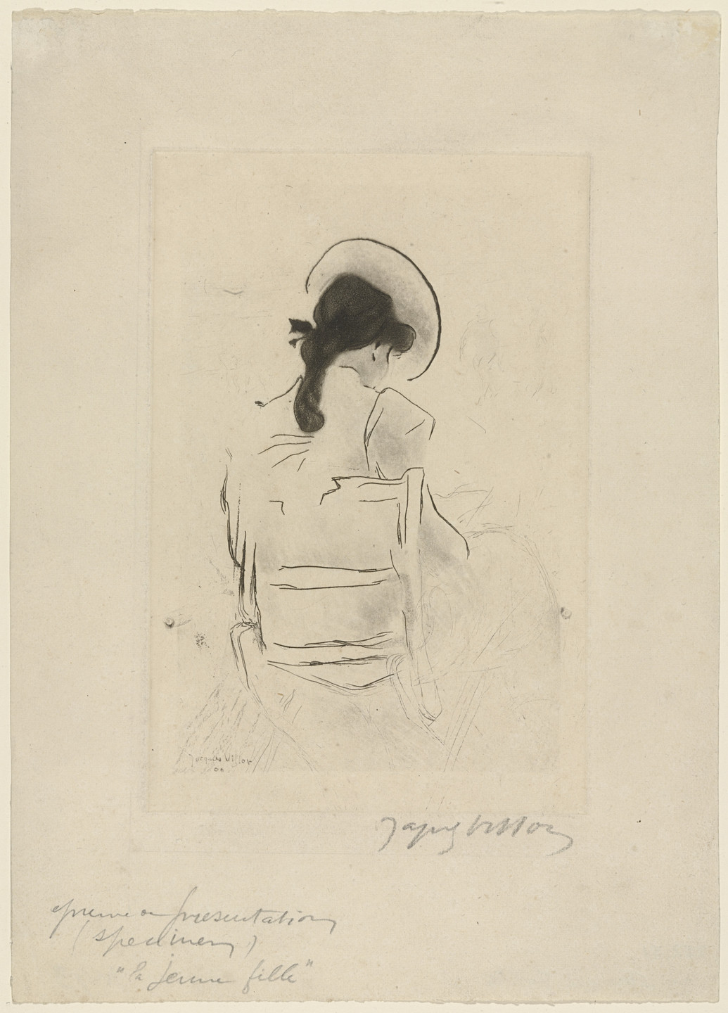 Jacques Villon. Young Girl, Back Turned. 1908