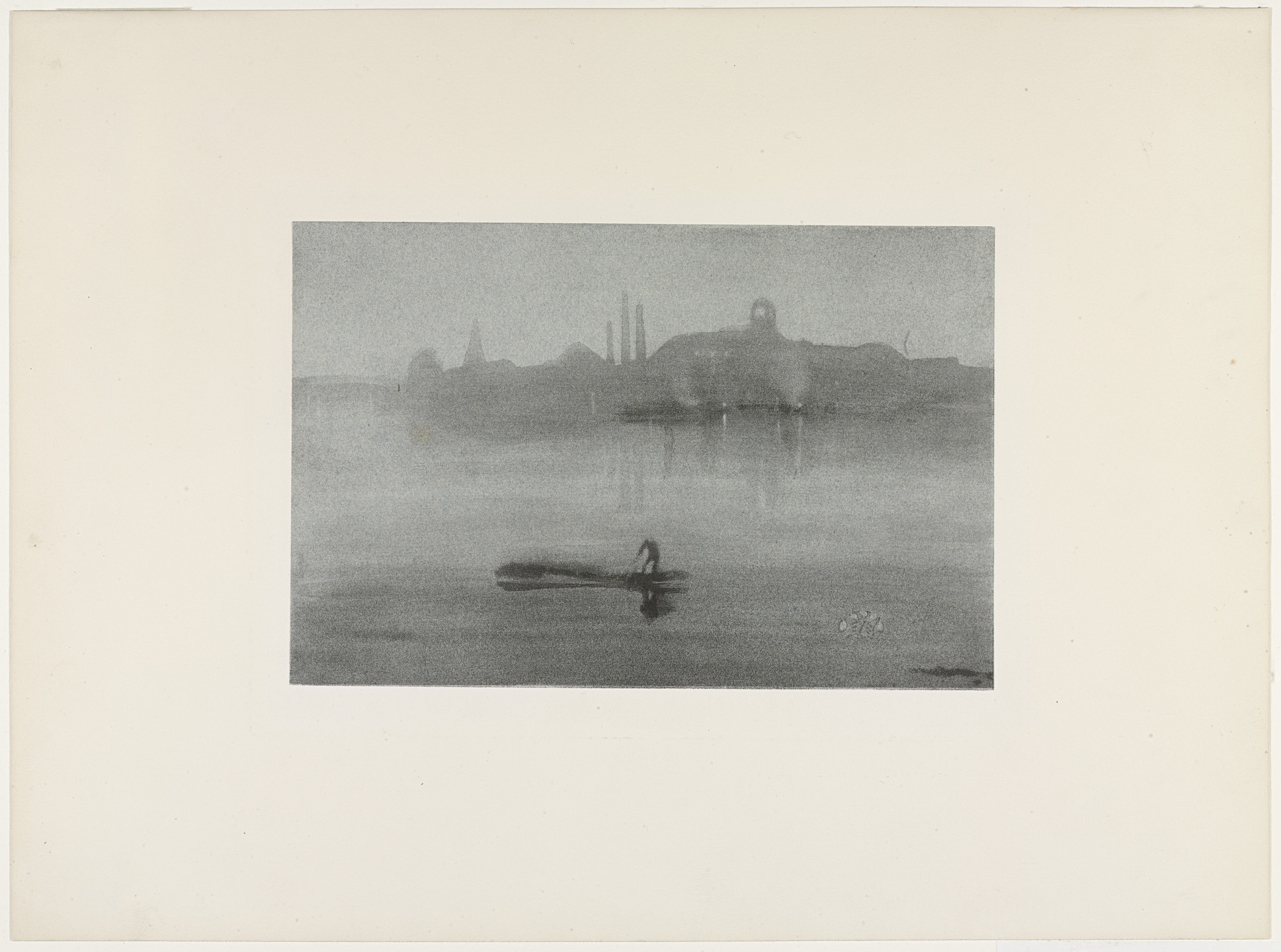 James McNeill Whistler. Nocturne: The River at Battersea. 1878, published 1887
