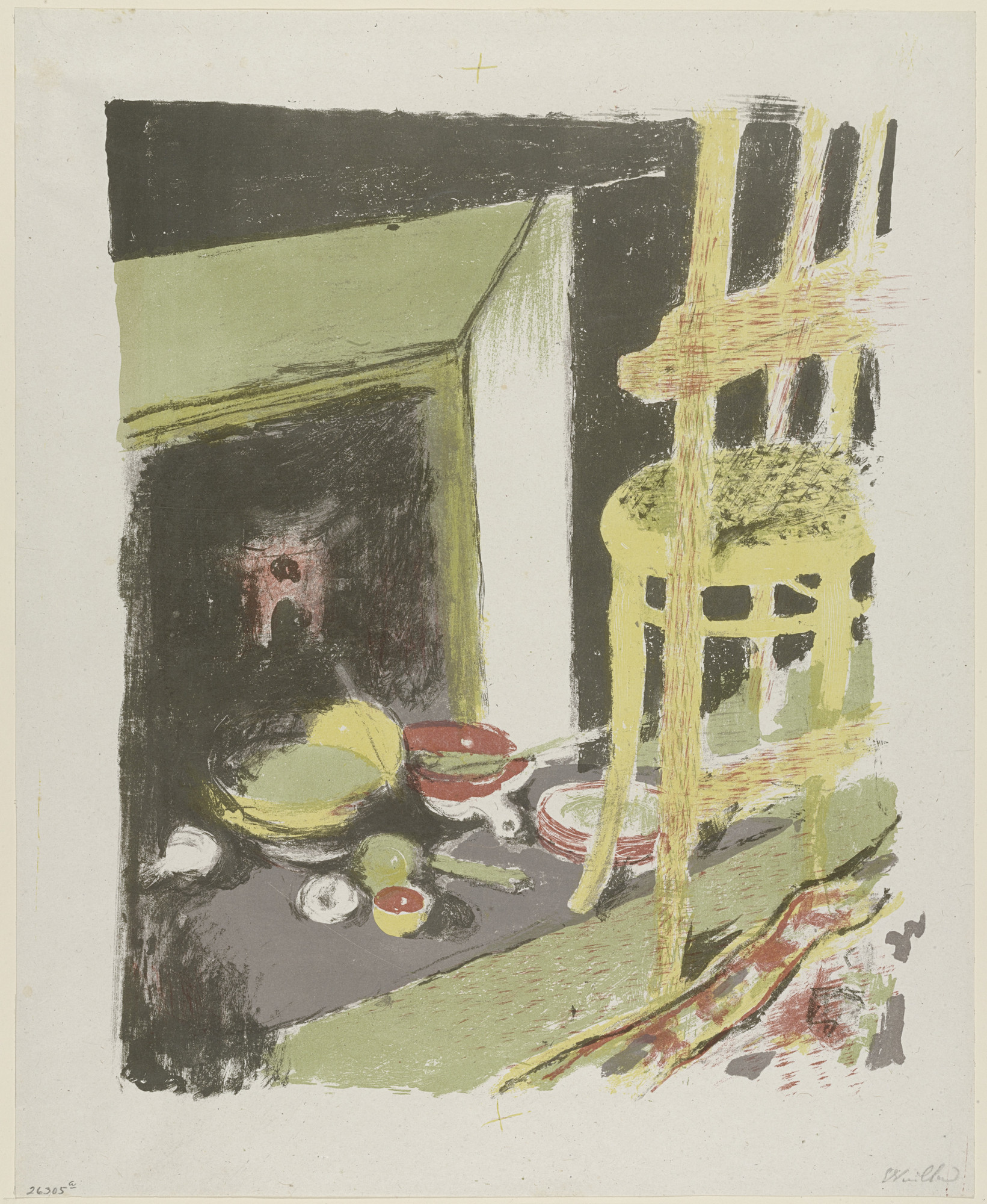 Édouard Vuillard. The Hearth (L'Atre) from Landscapes and Interiors (Paysages et intérieurs). 1899
