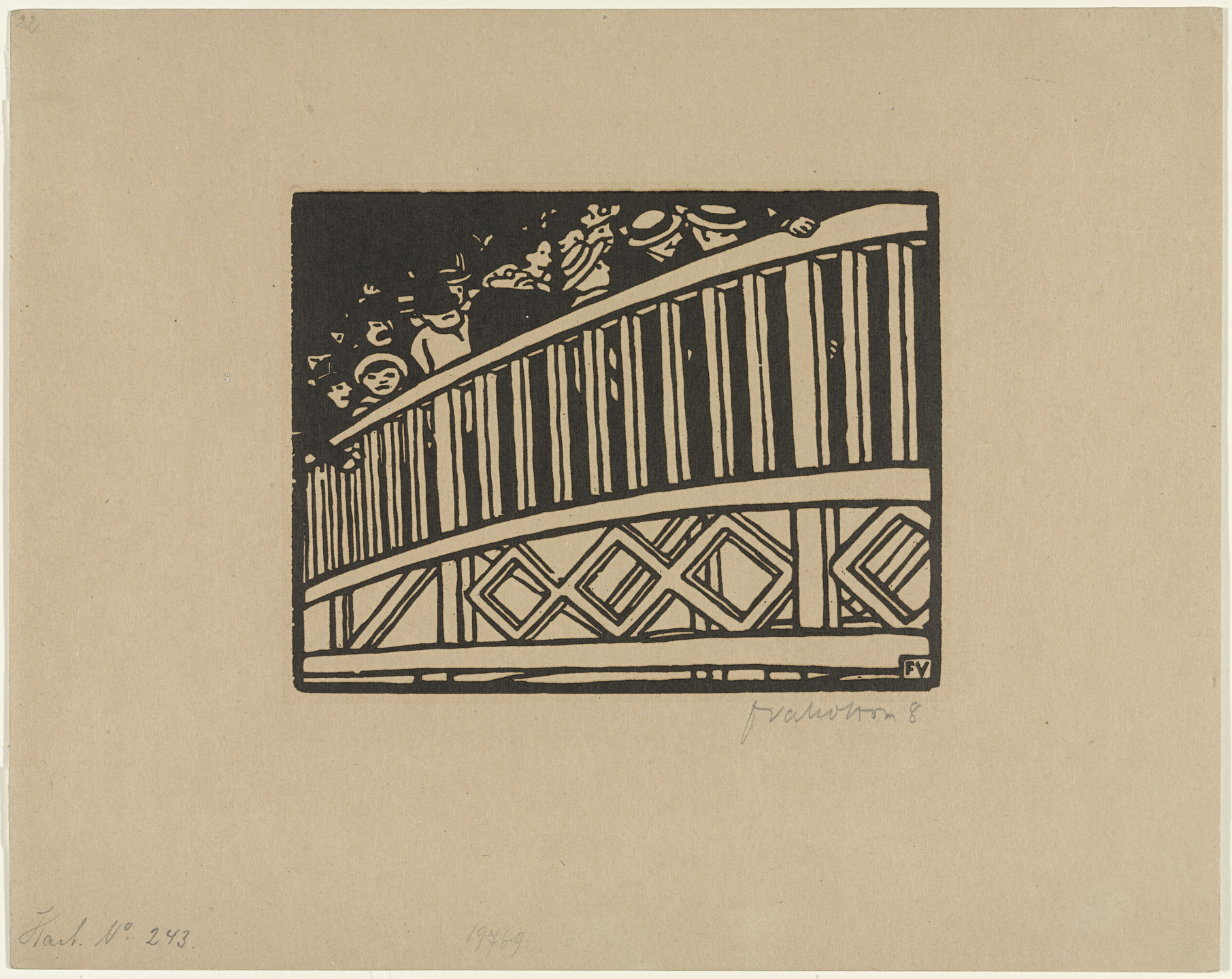 Félix Vallotton. The Moving Footway (plate I) from The World's Fair (L'Exposition Universelle). 1901