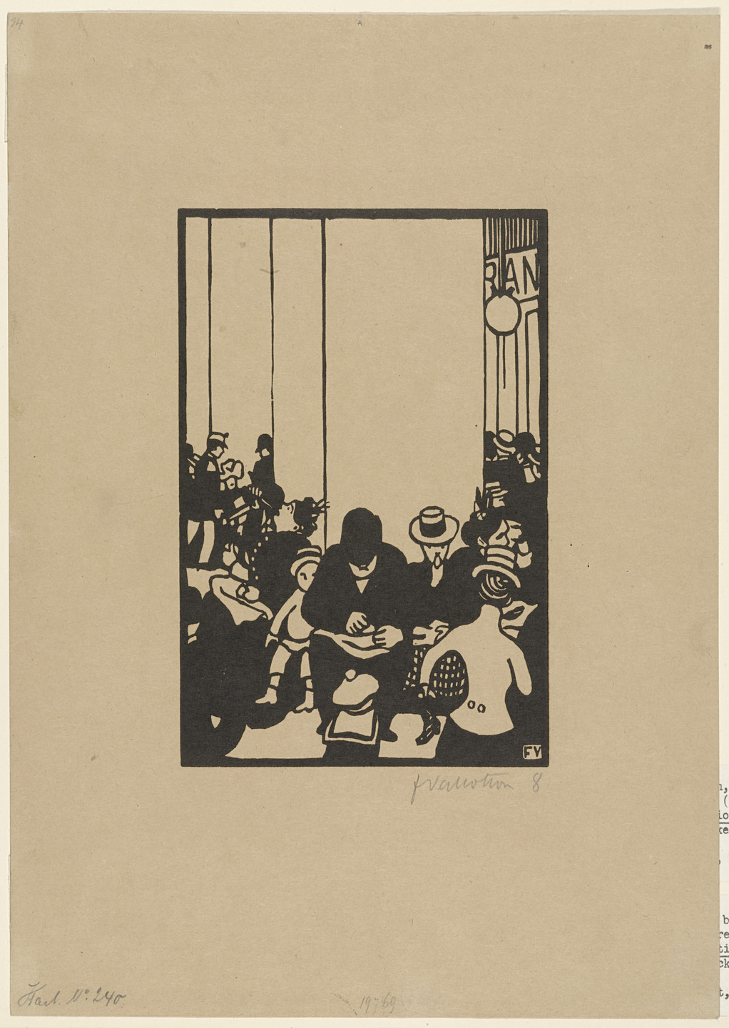 Félix Vallotton. Five O'Clock (plate IV) from The World's Fair (L'Exposition Universelle). 1901