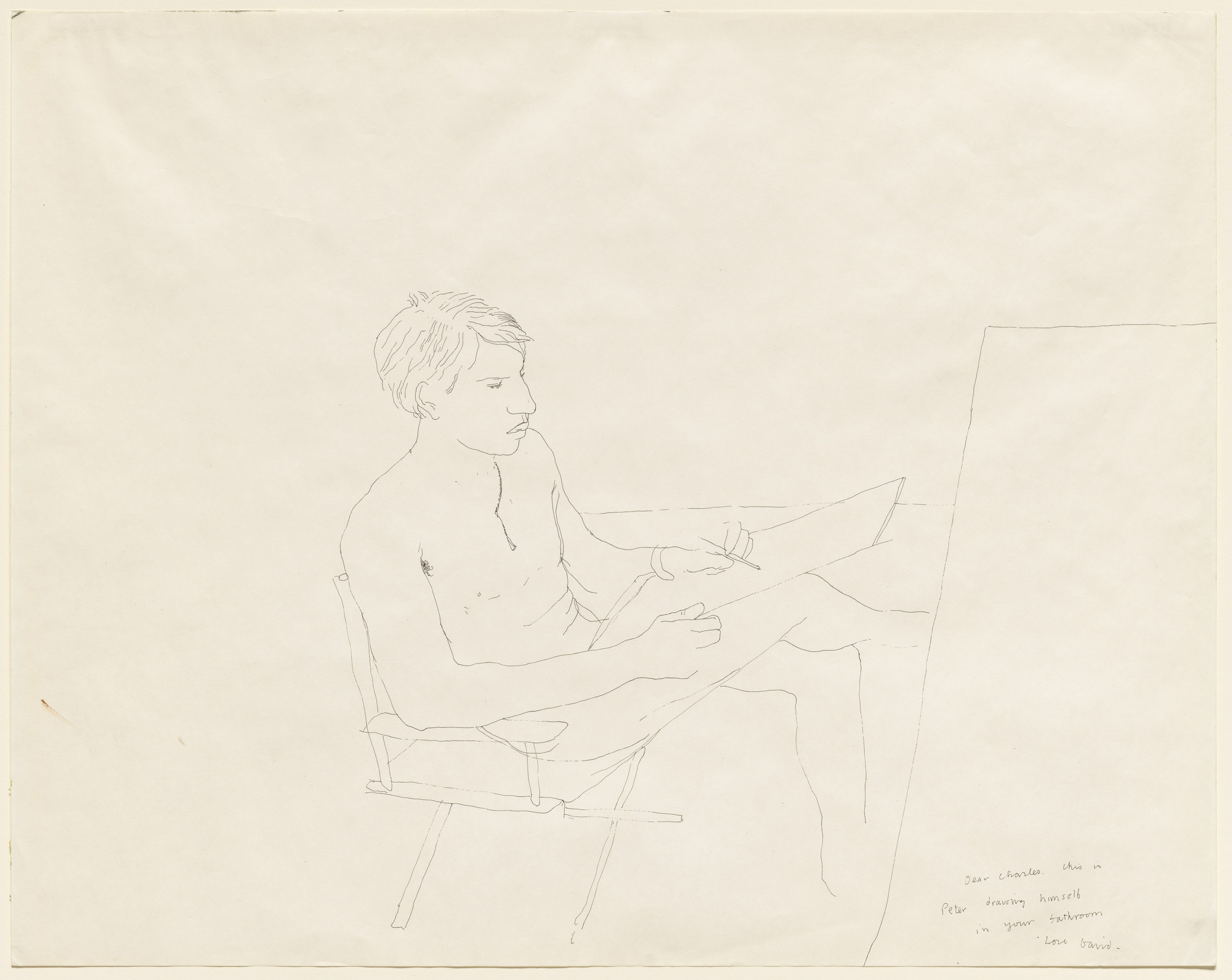 David Hockney. Portrait of Peter. (1966)